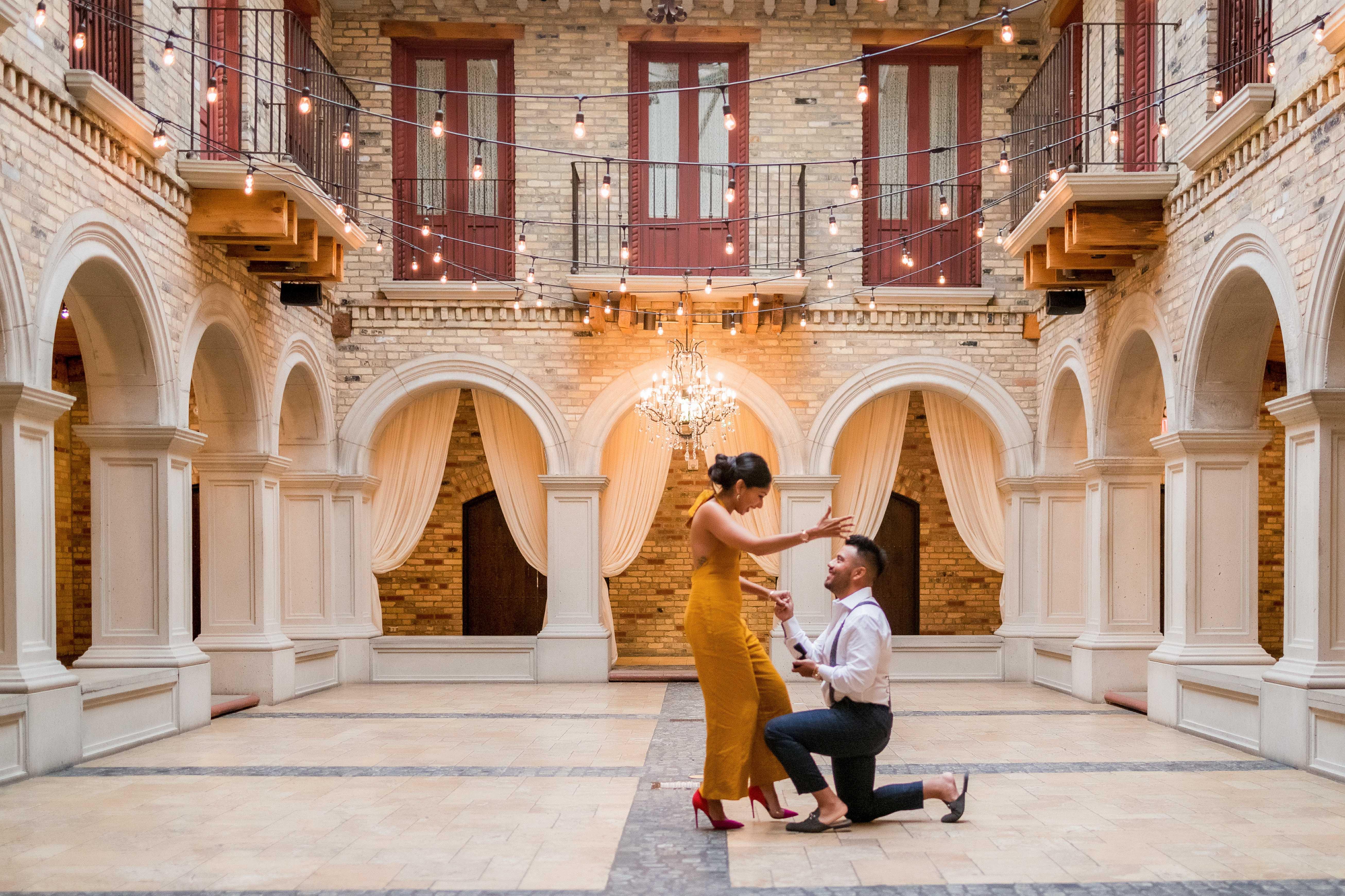 perfect proposals ontario venue courtyard