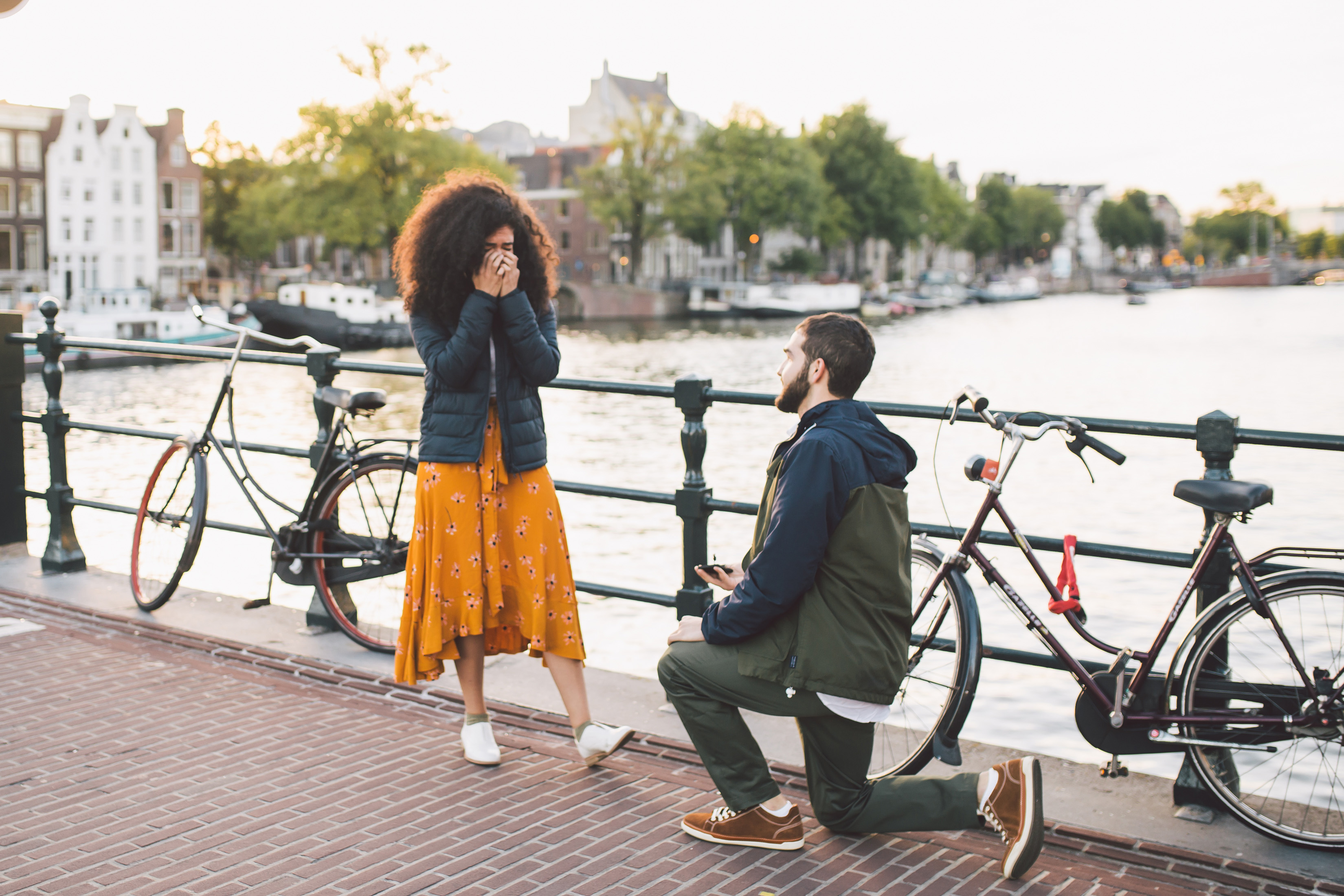 perfect proposals bike ride over river