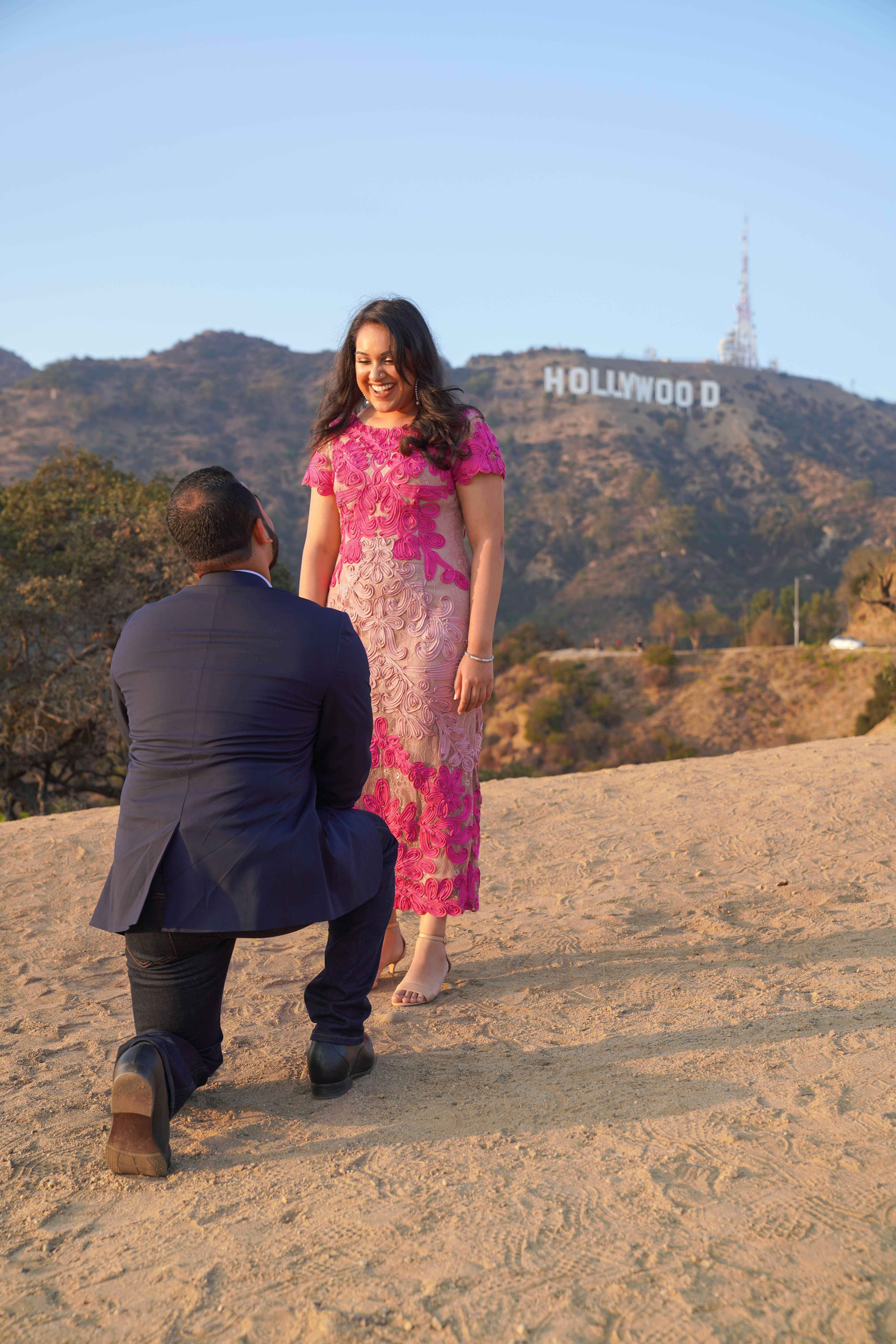 perfect proposals hilltop hollywood sign backdrop