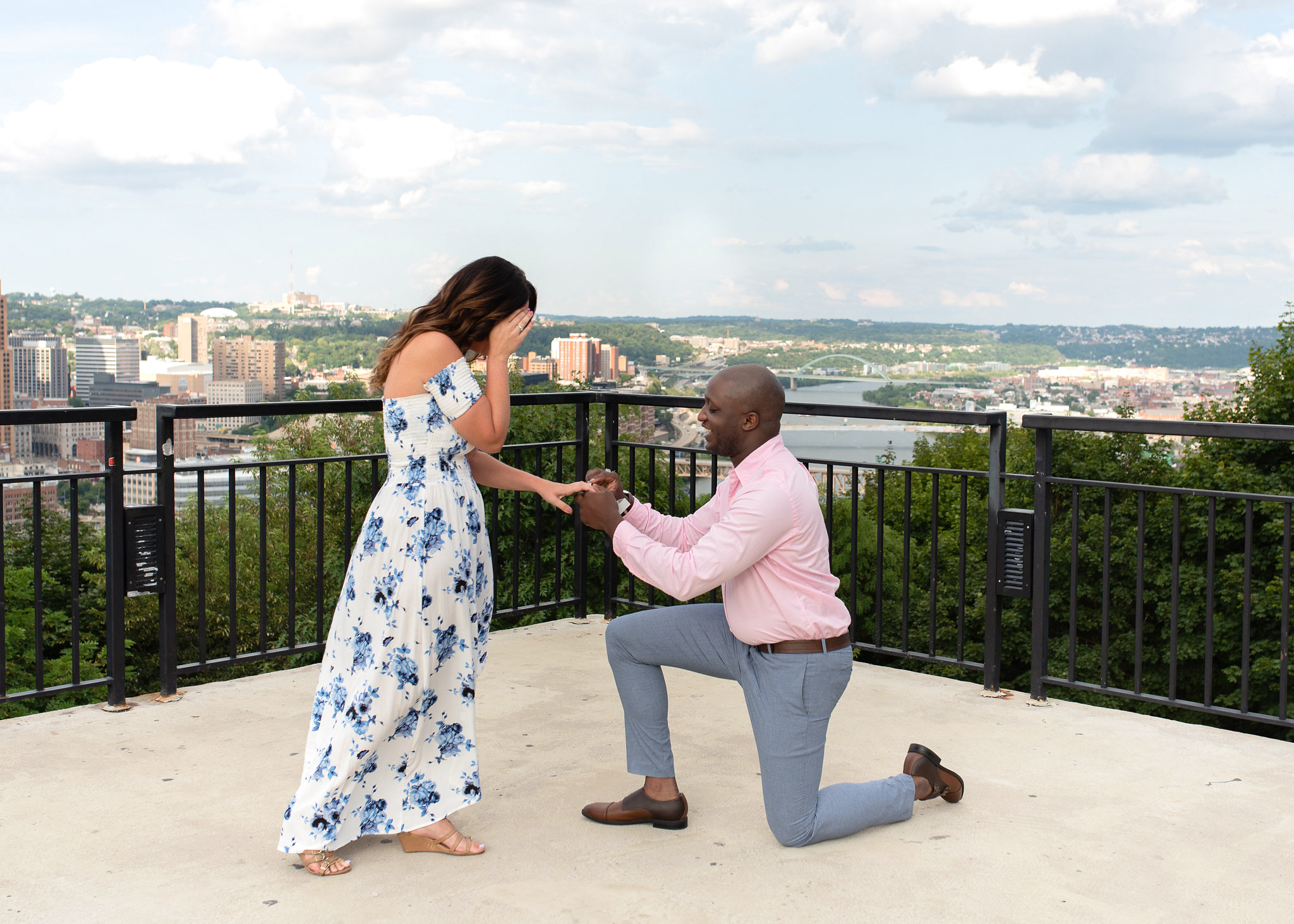 perfect proposals riverview look out over city
