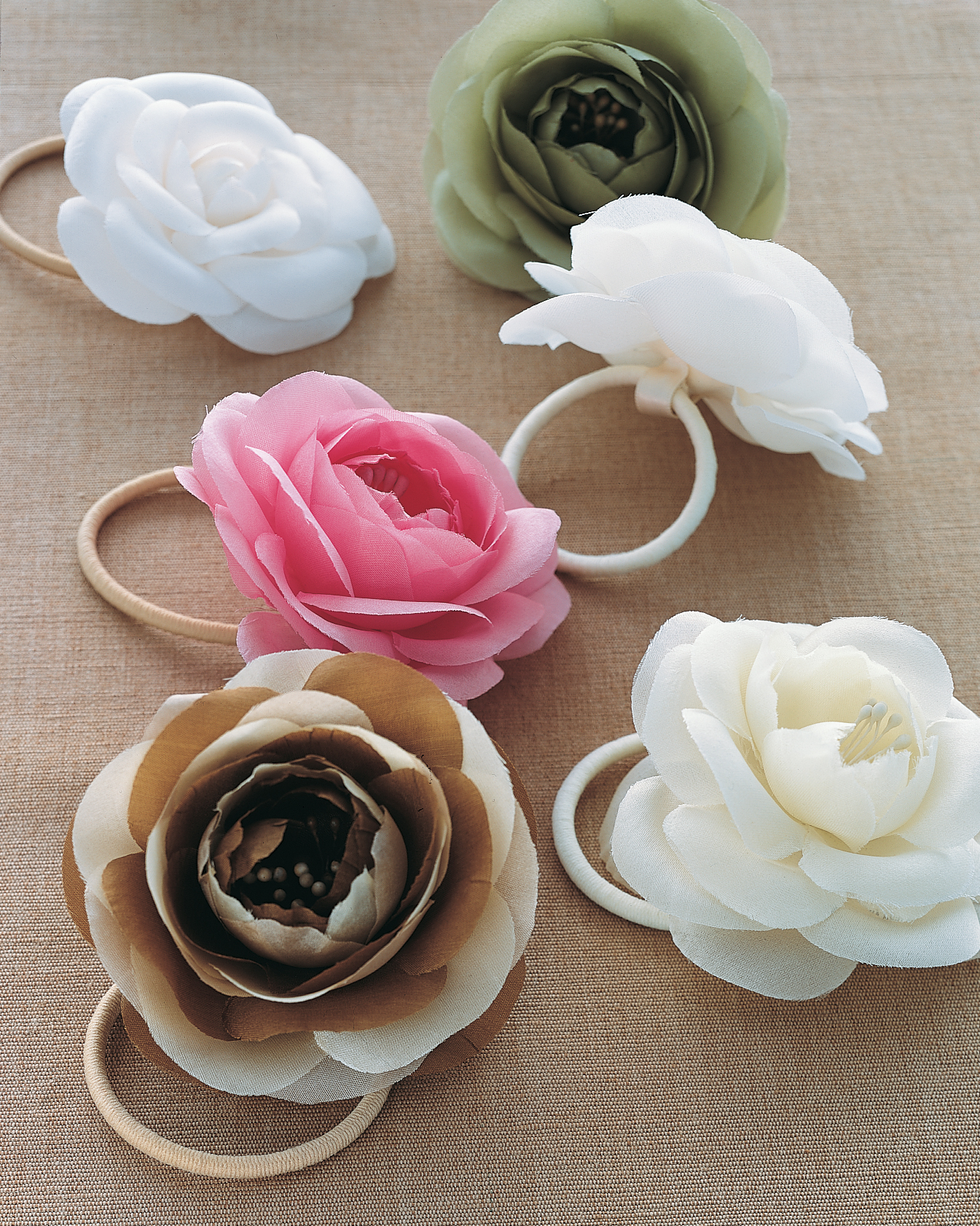 Silk-Flower Hair Bands