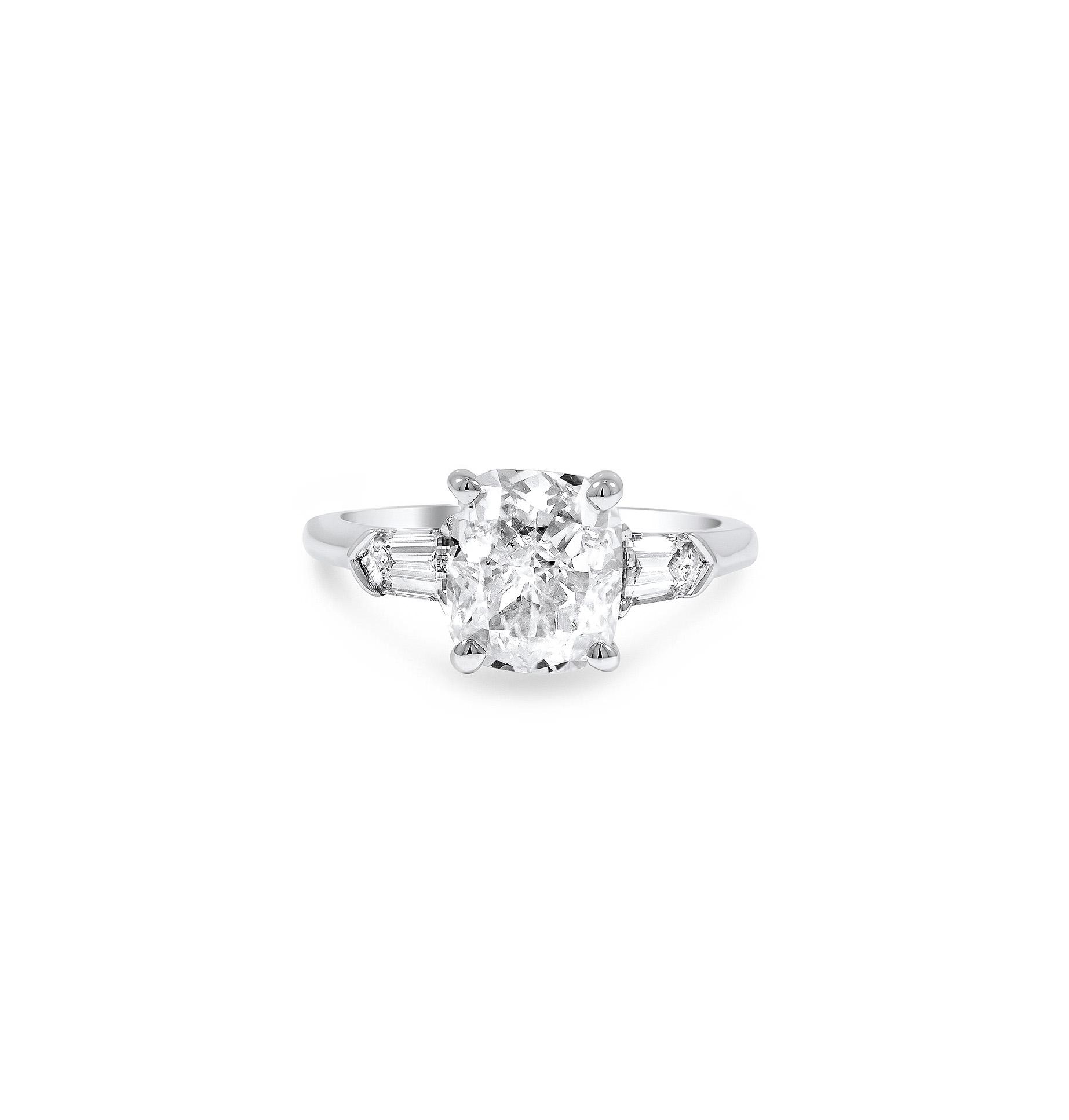 brilliant earth cushion cut diamond beloved ring