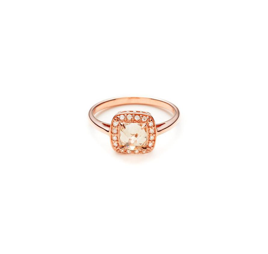 anna sheffield cushion cut diamond engagement ring rose gold band