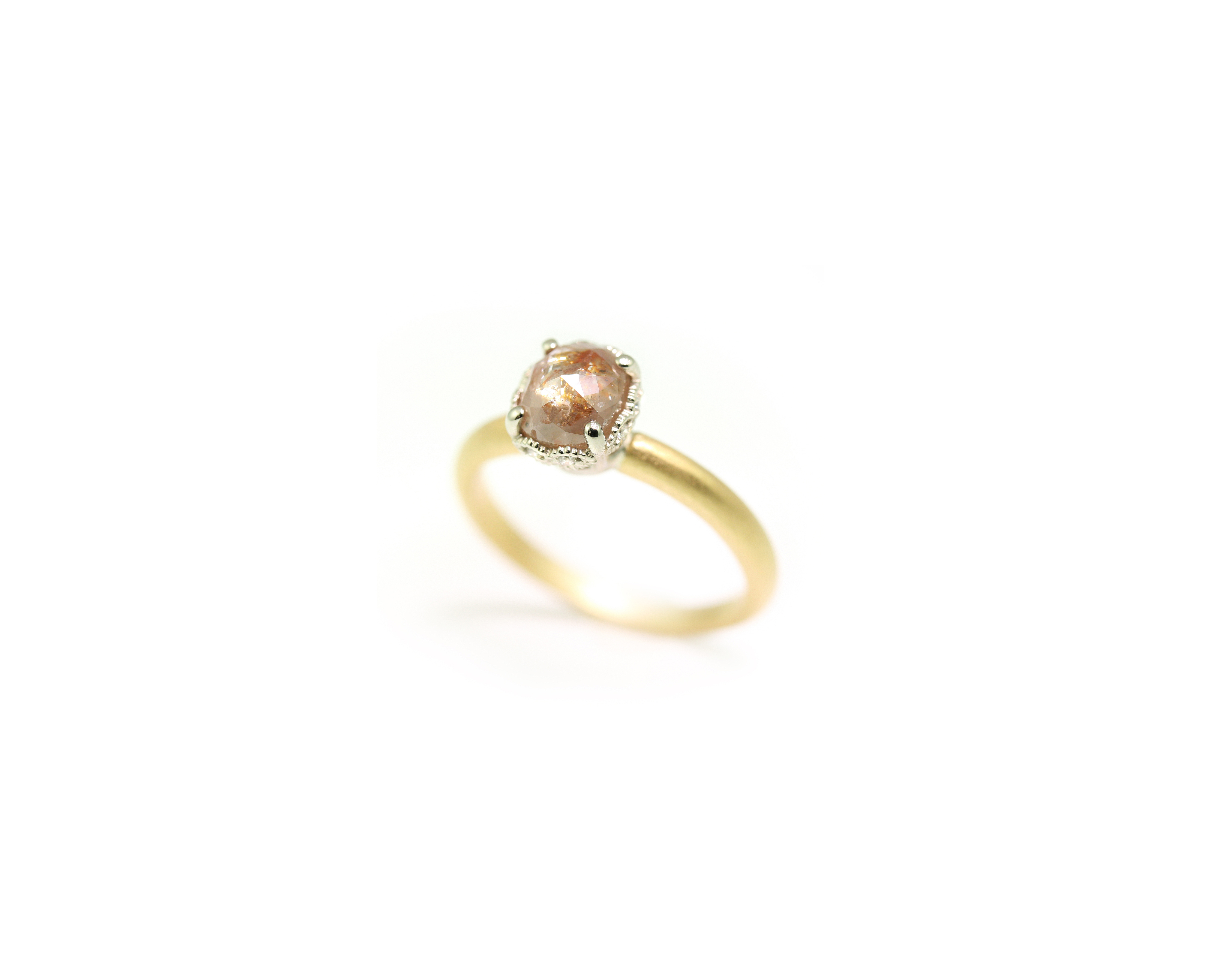 megan thorne ribbon crown cushion cut engagement ring