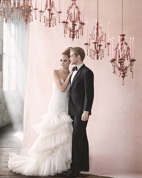 Pleated Tulle Wedding Dress