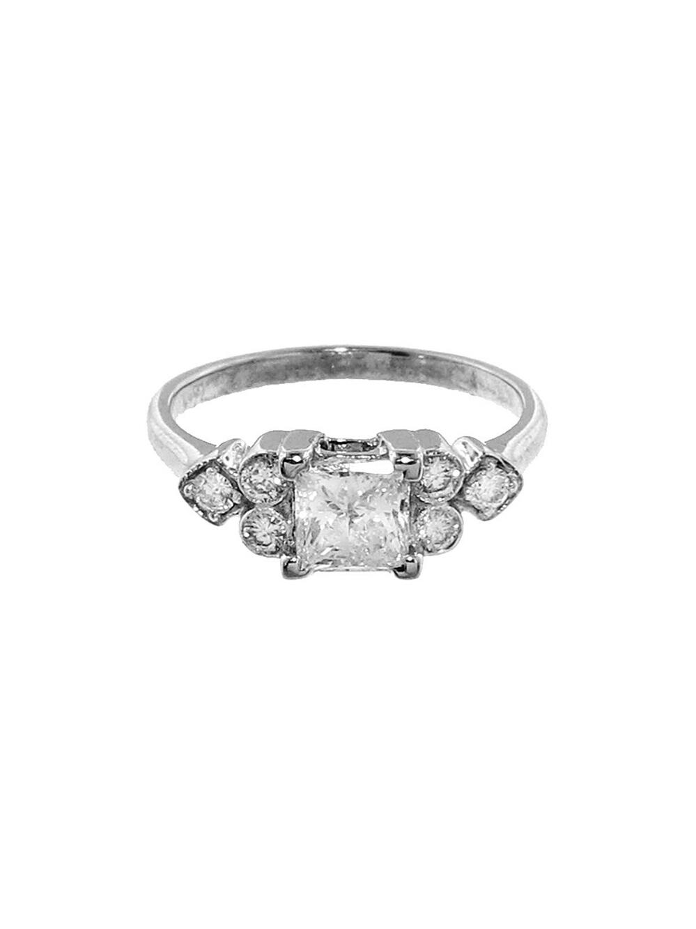 princess cut ring silver sethi couture