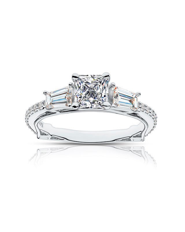 princess cut ring forevermark silver