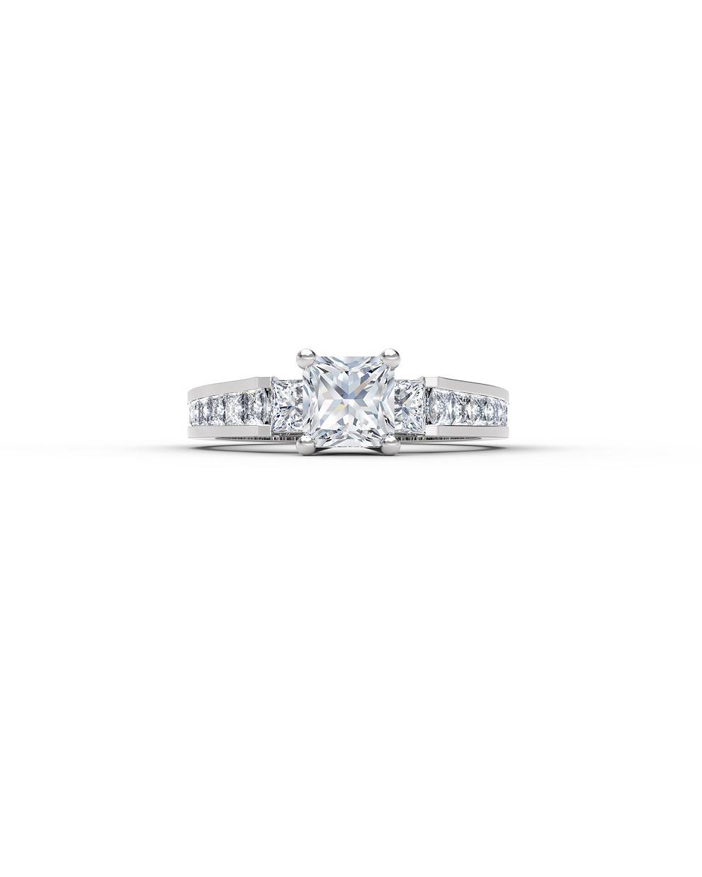 princess cut ring forevermark silver diamonds