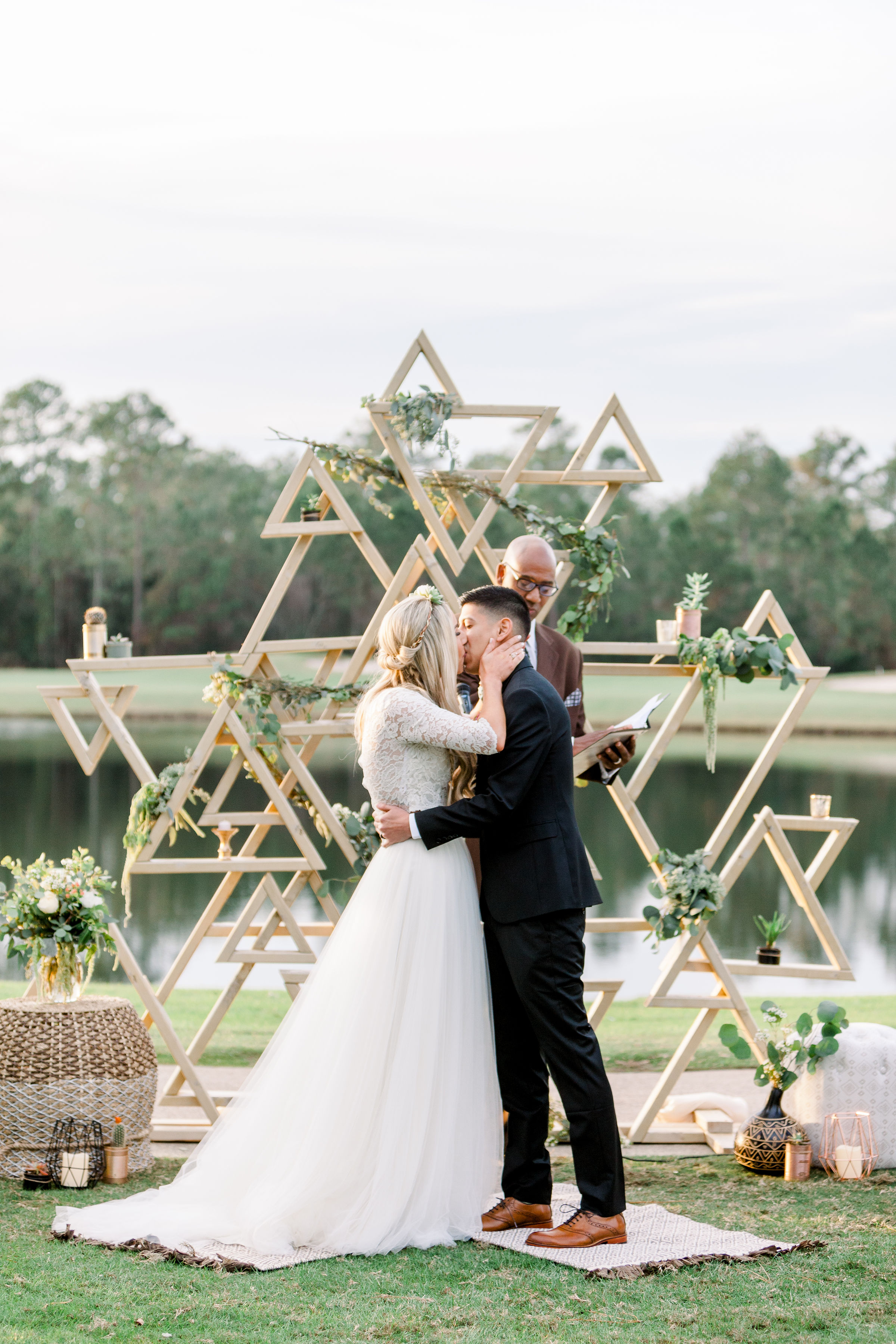 geometric ceremony arch