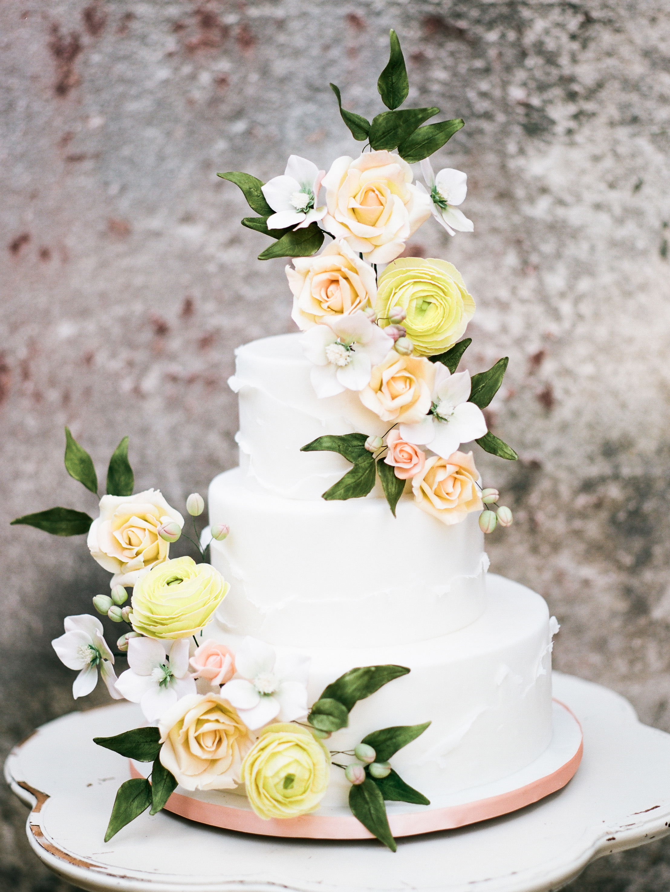 big cake with flowers