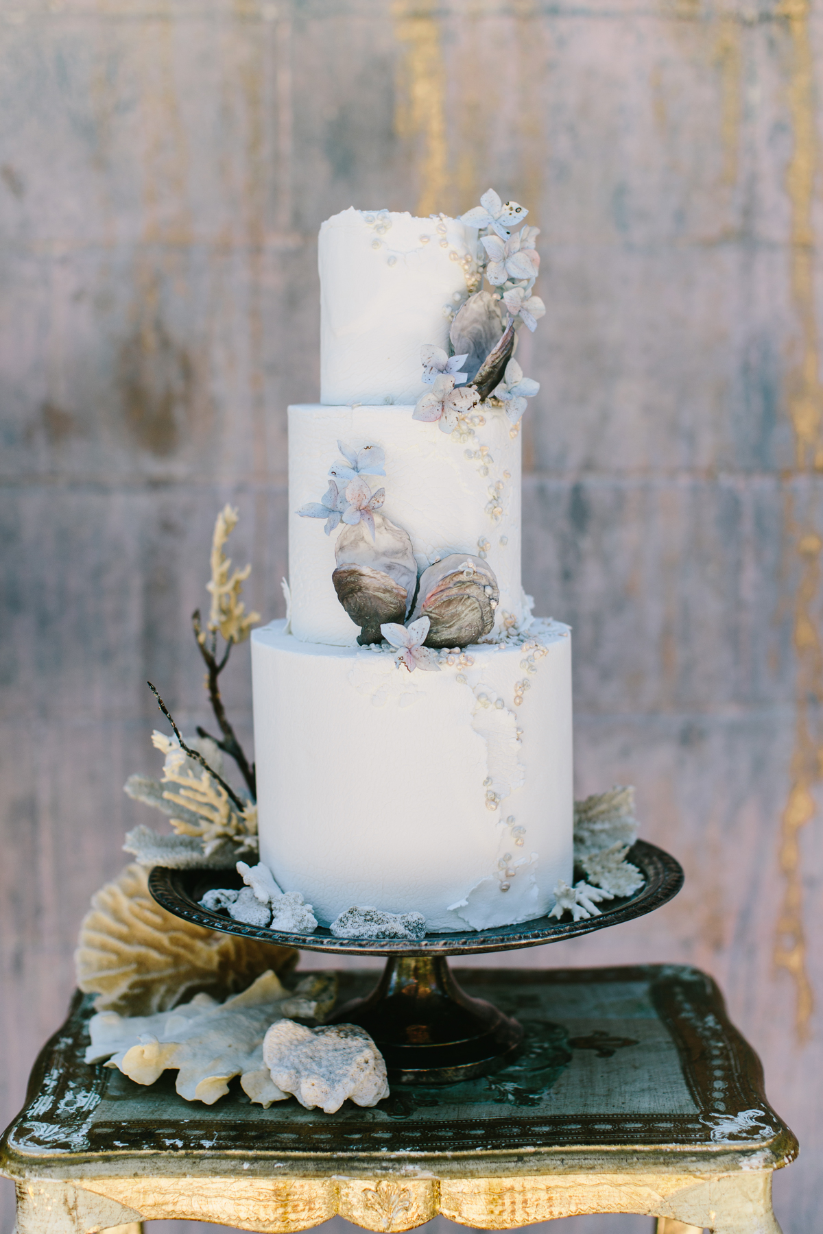 Wedding Cake Table.Beach Wedding Cakes That Are Perfect For Your Seaside Dessert Table