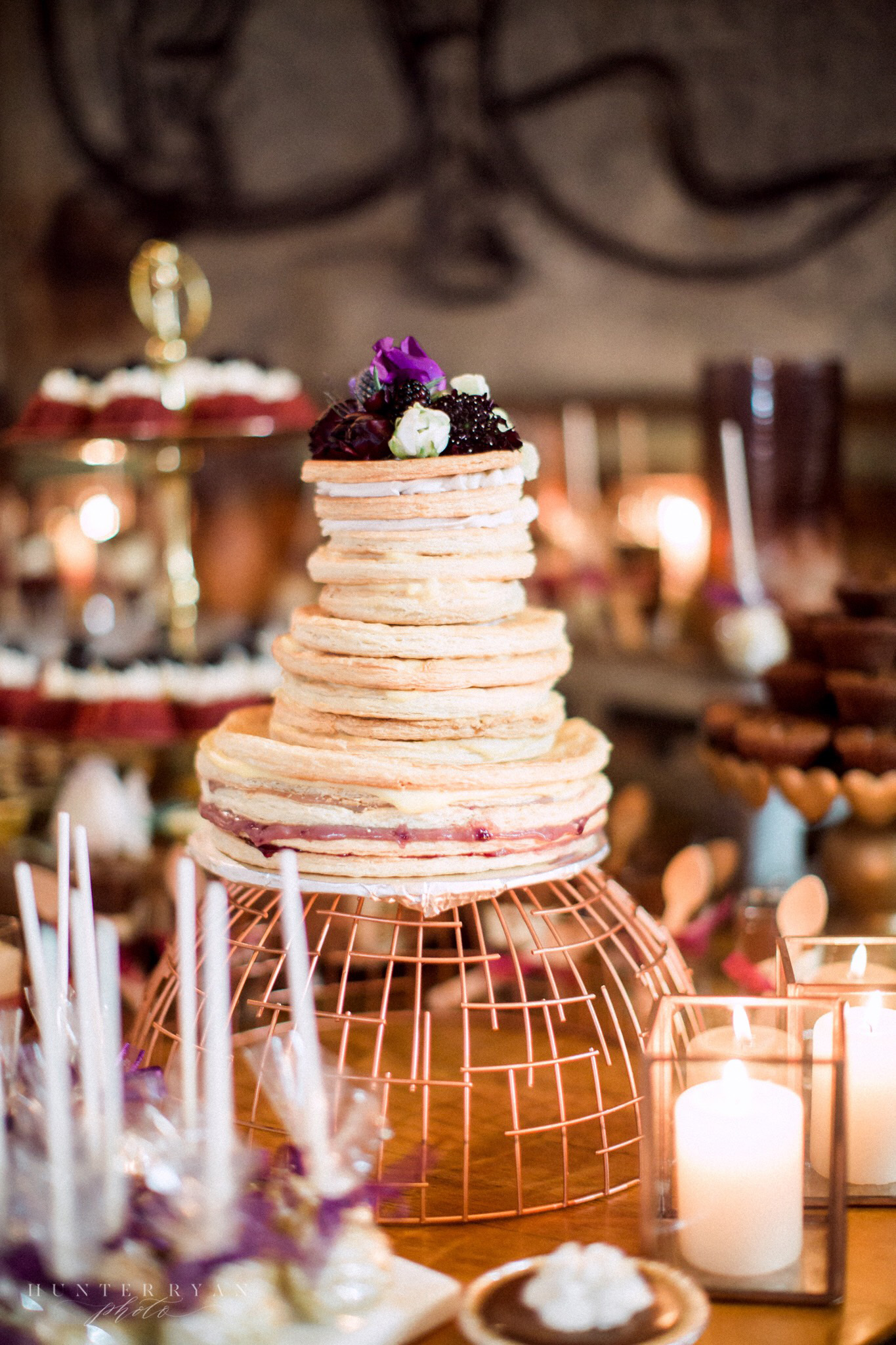 thick crepe wedding cake