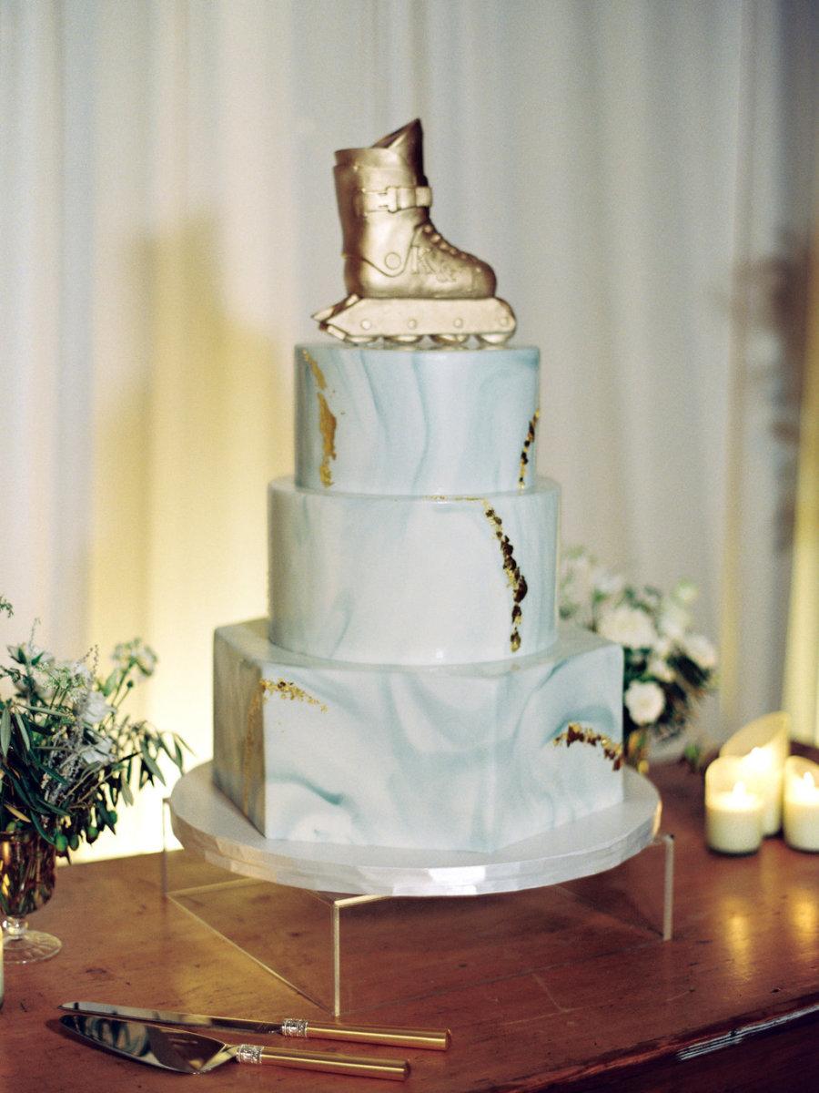 skate wedding cake topper