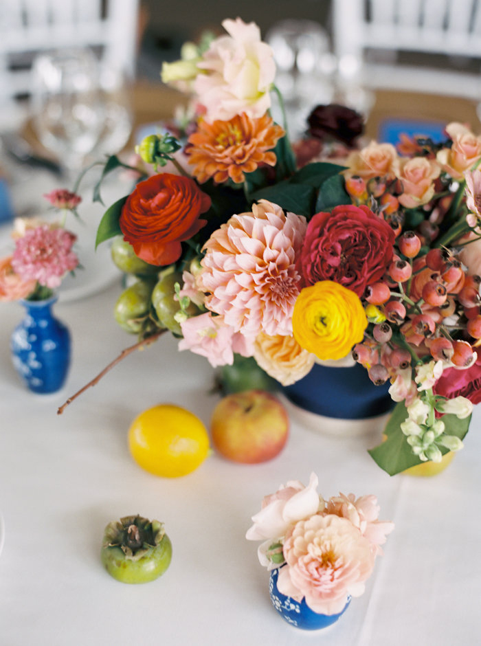 dahlia wedding centerpieces colorful prema arrangement