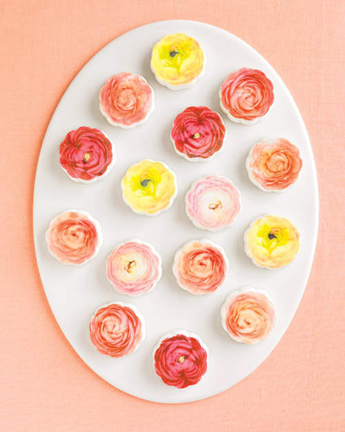 Chocolate Medallions with Flowers
