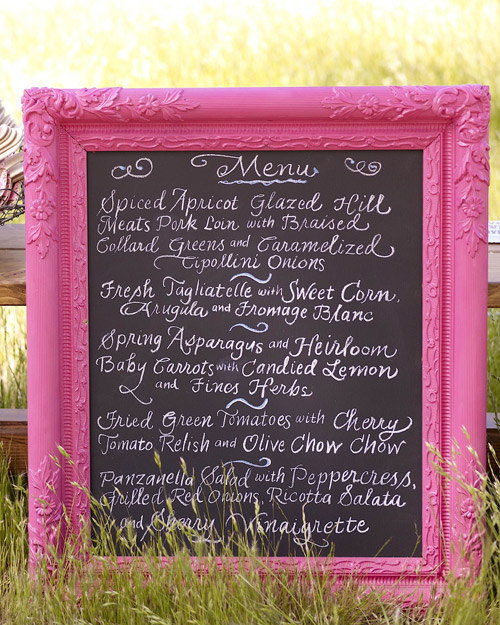 Quirky Chalkboard Menu