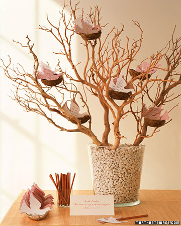 Wedding Guest Note Tree