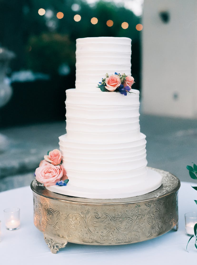 vanilla wedding cakes sarah kate