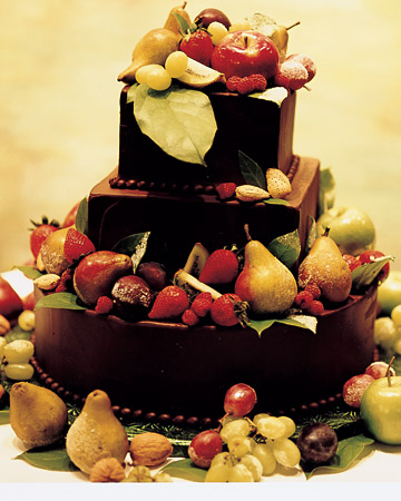 Chocolate and Fruit Wedding Cake