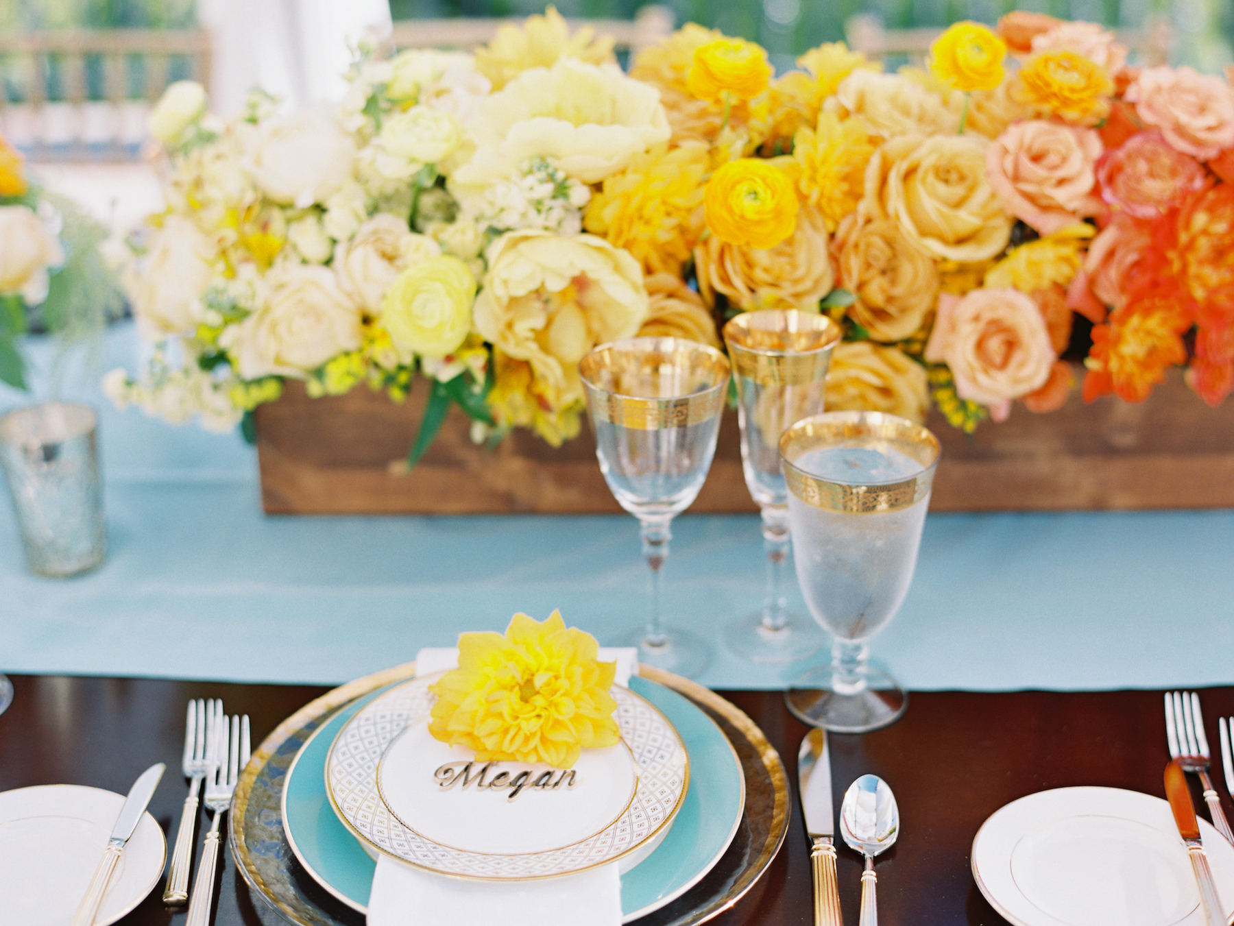 ombre centerpiece