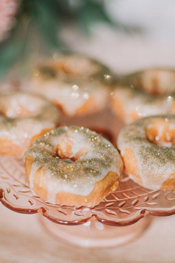 sparkling donuts dessert