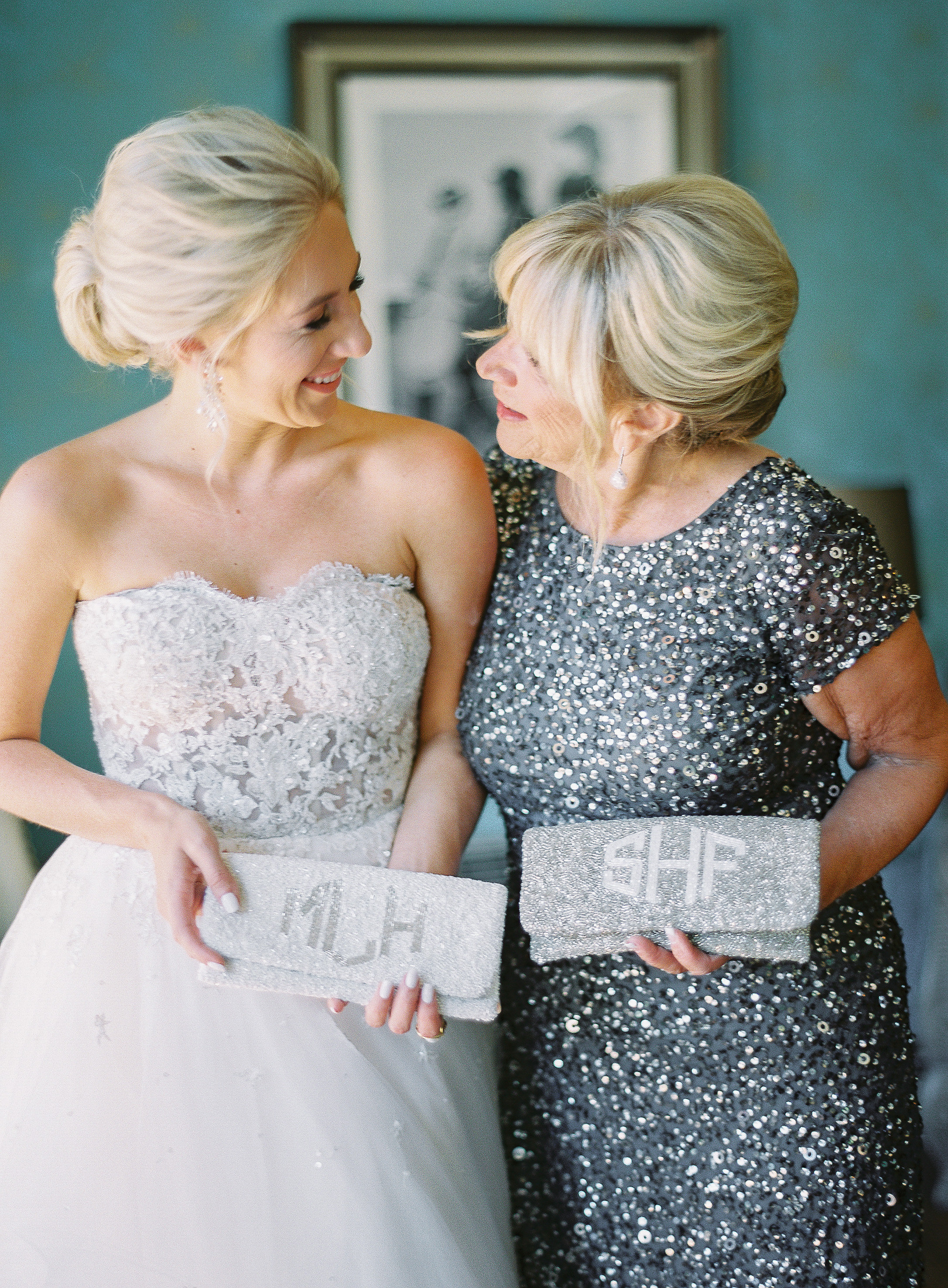 sparkling purses mom and bride