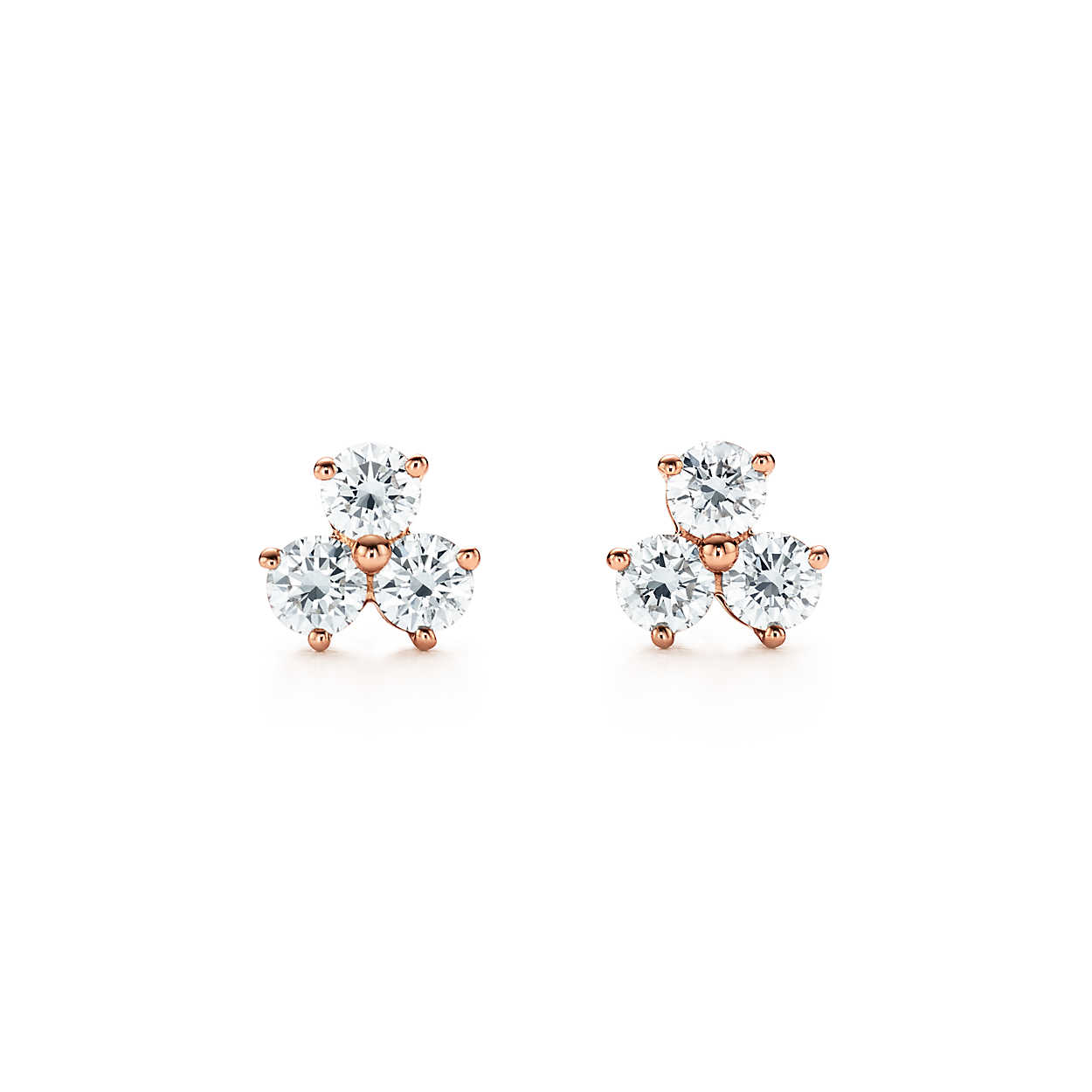"Wedding Earrings for Every Bride, Tiffany and Co. ""Aria"" Diamond Cluster Earrings"