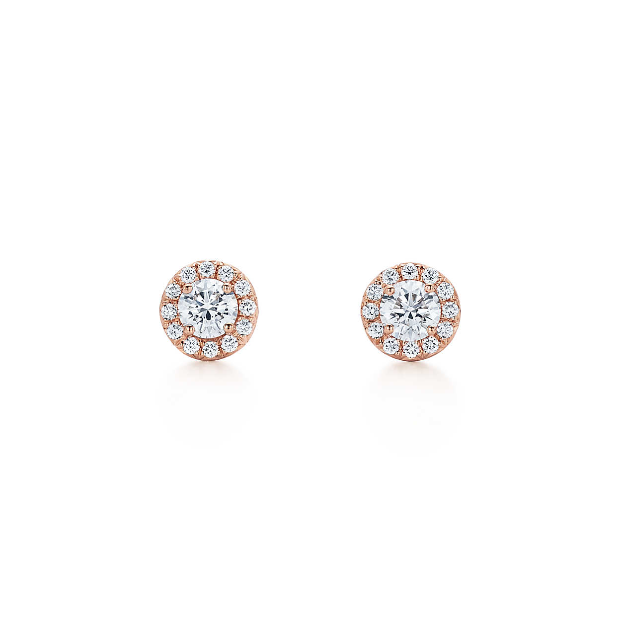 "Wedding Earrings for Every Bride, Tiffany and Co. ""Soleste"" Round Diamond Earrings"