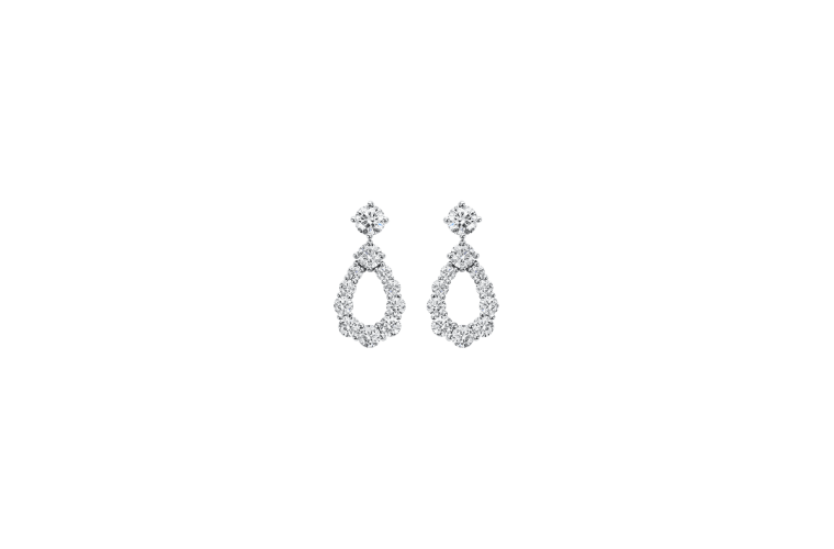 "Wedding Earrings for Every Bride, Harry Winston ""Diamond Loop"" Earring"