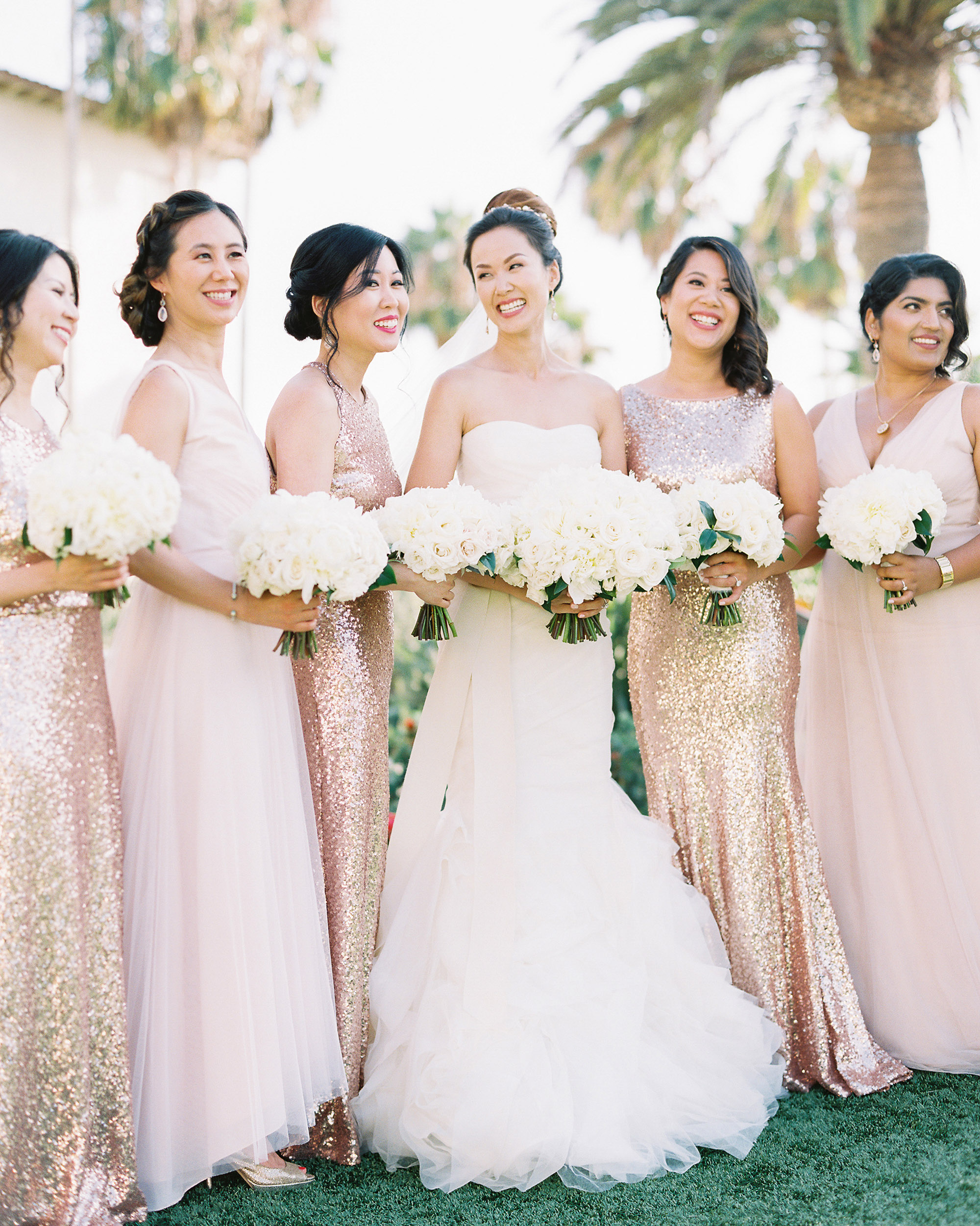 glamorous wedding ideas glam bridal party