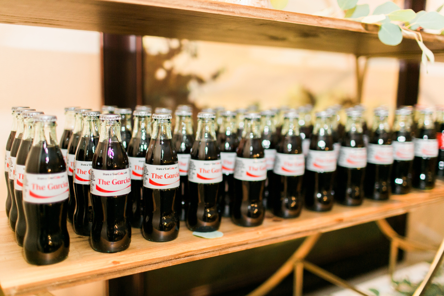 custom Coke wedding favors