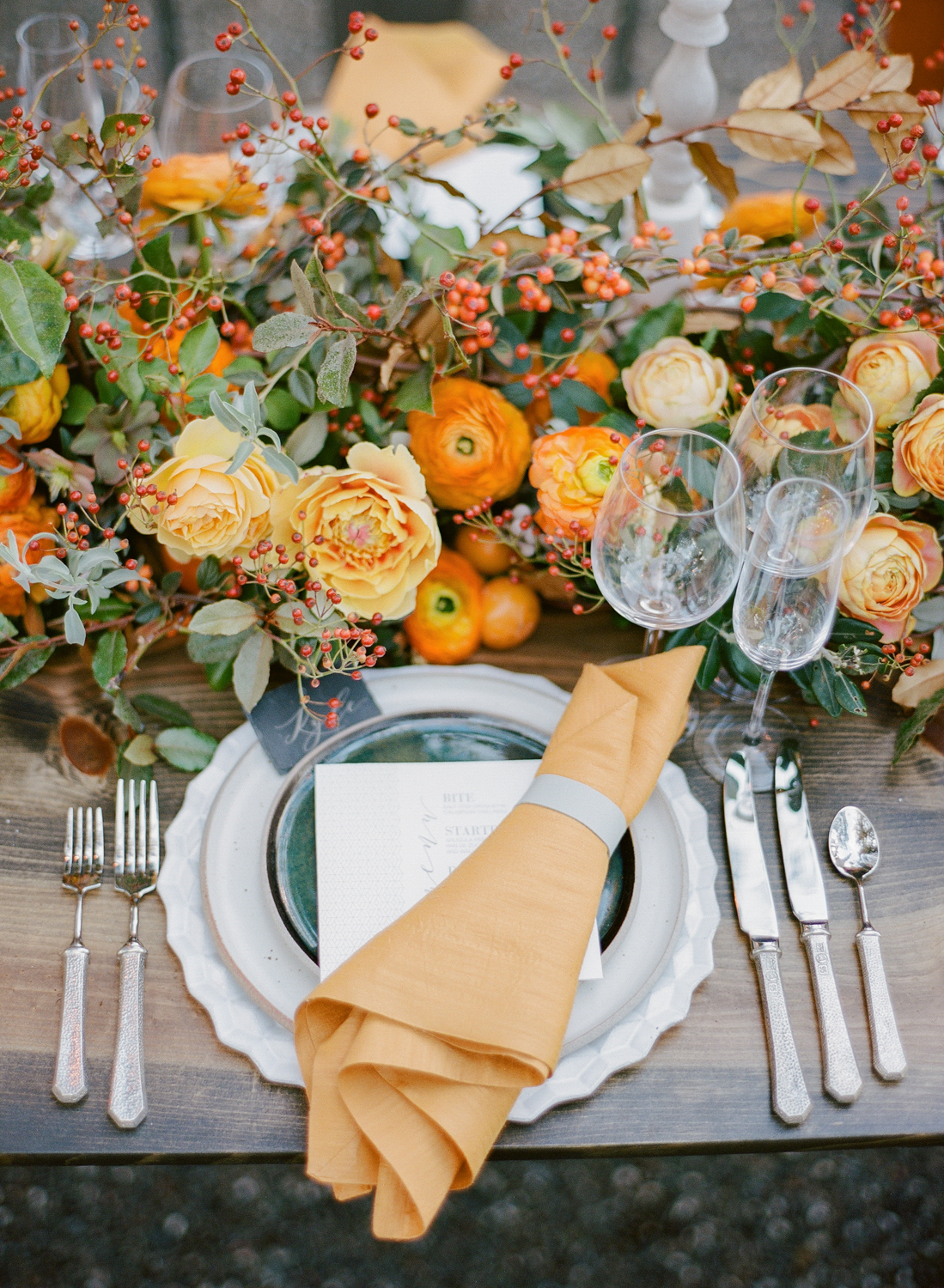 How to Plan a Fall Wedding Without Embracing the Typical Fall Foliage Look