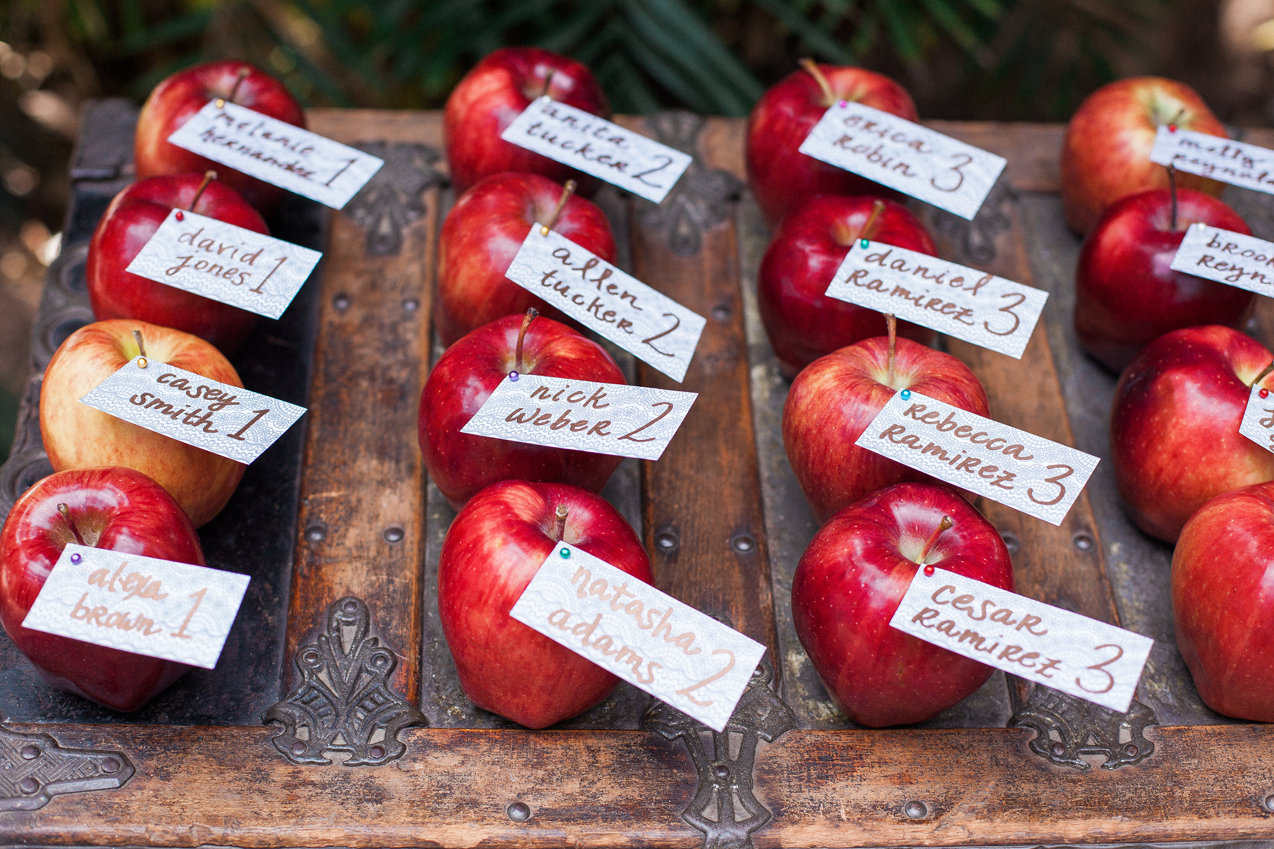 Apple Escort Cards, Fall Wedding Ideas