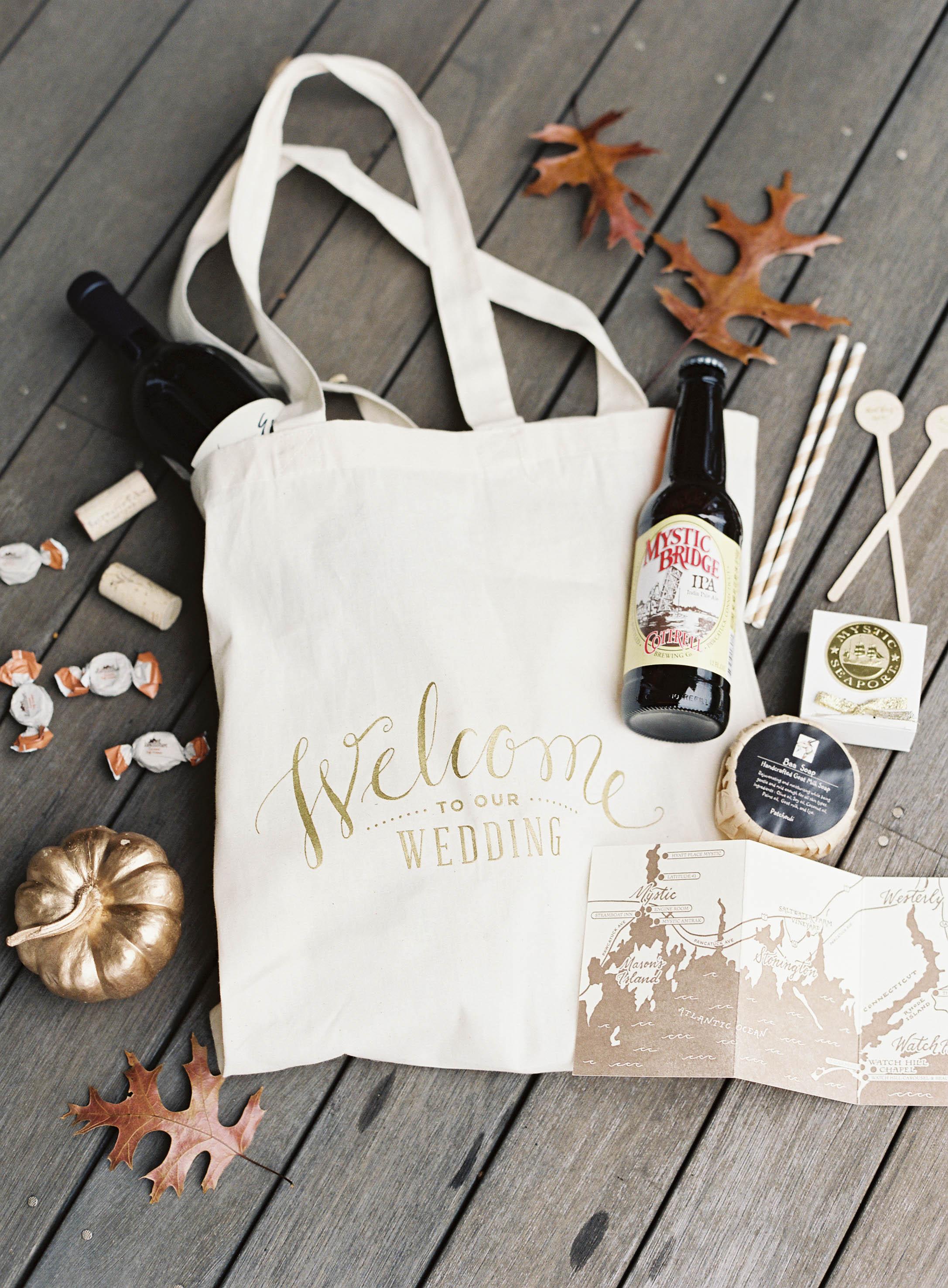 Fall wedding welcome bag