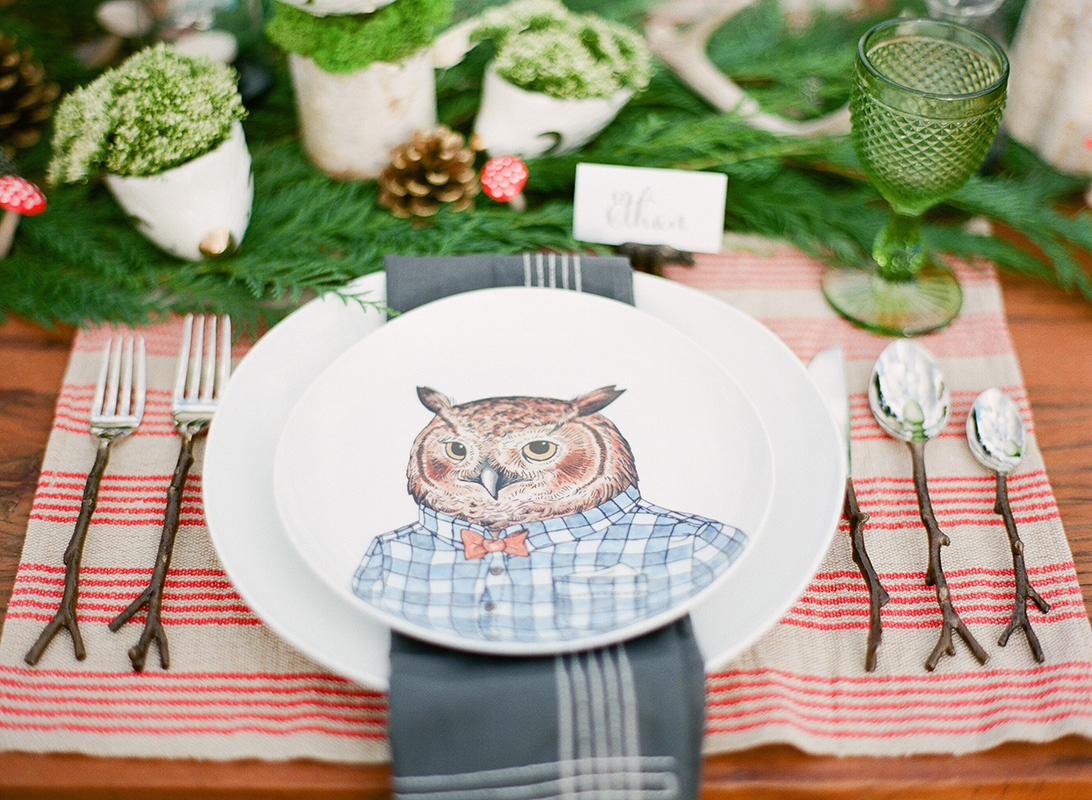 Owl Place Setting, Fall Wedding Ideas
