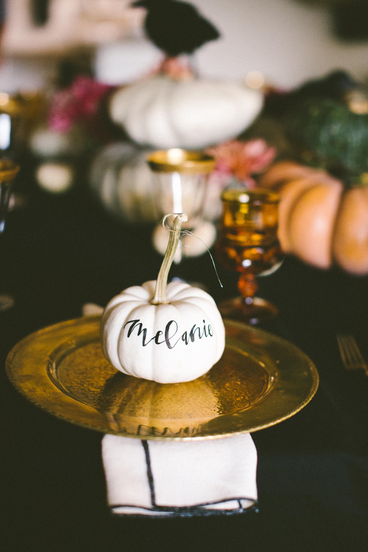 Pumpkin place setting