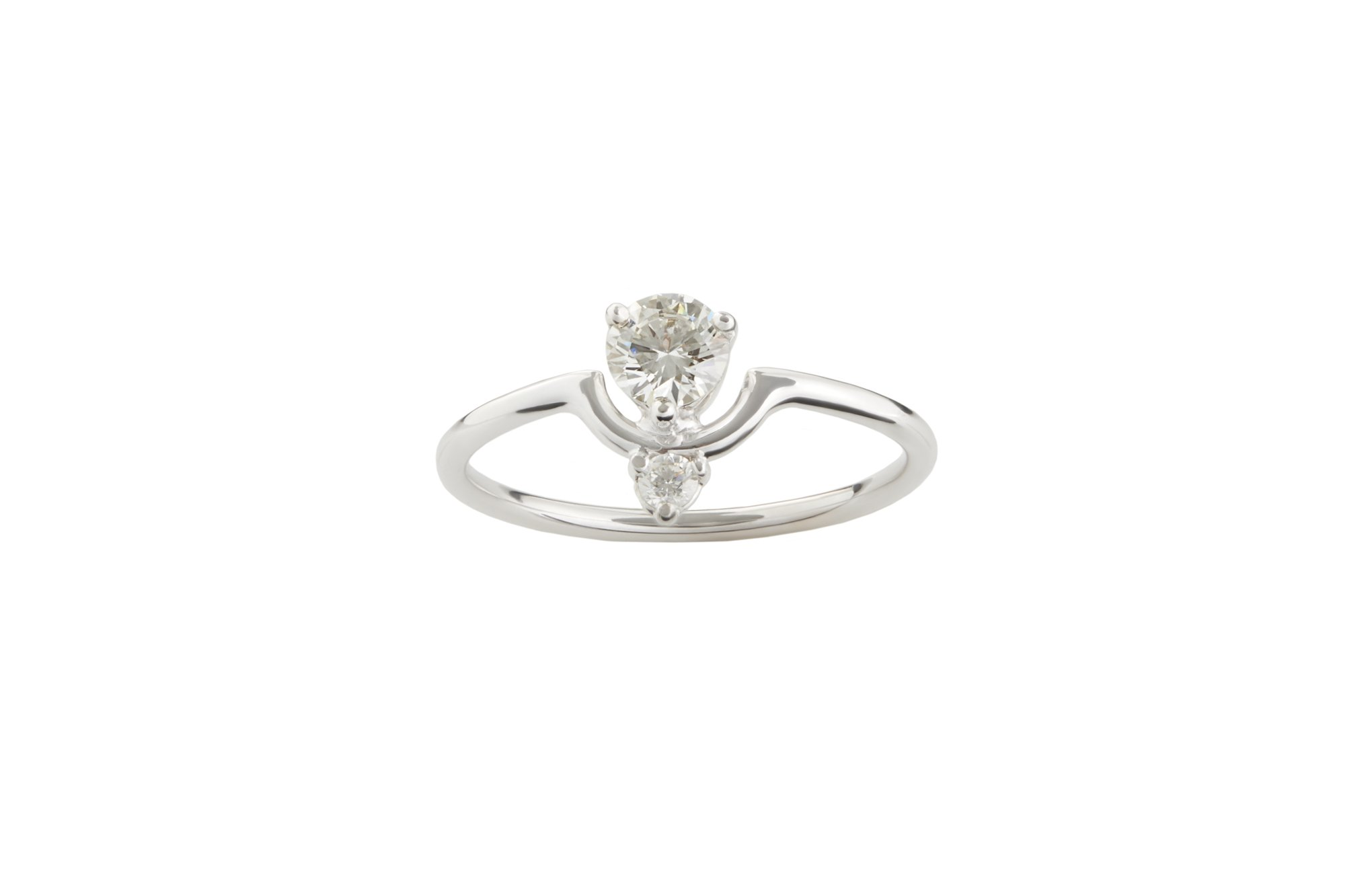 Wwake Limited Edition Small Nestled Diamonds Ring