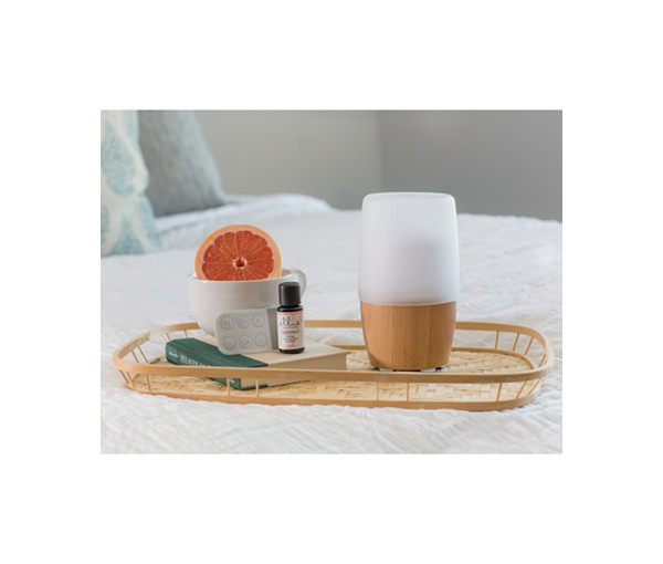 aroma diffuser on tray
