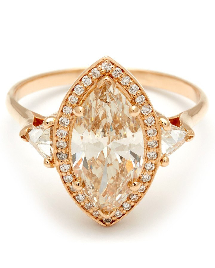 marquise-cut engagement rings