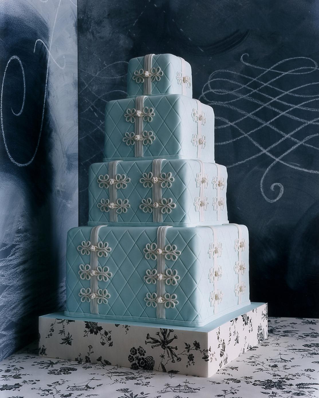 Blue and Purple Wedding Cakes