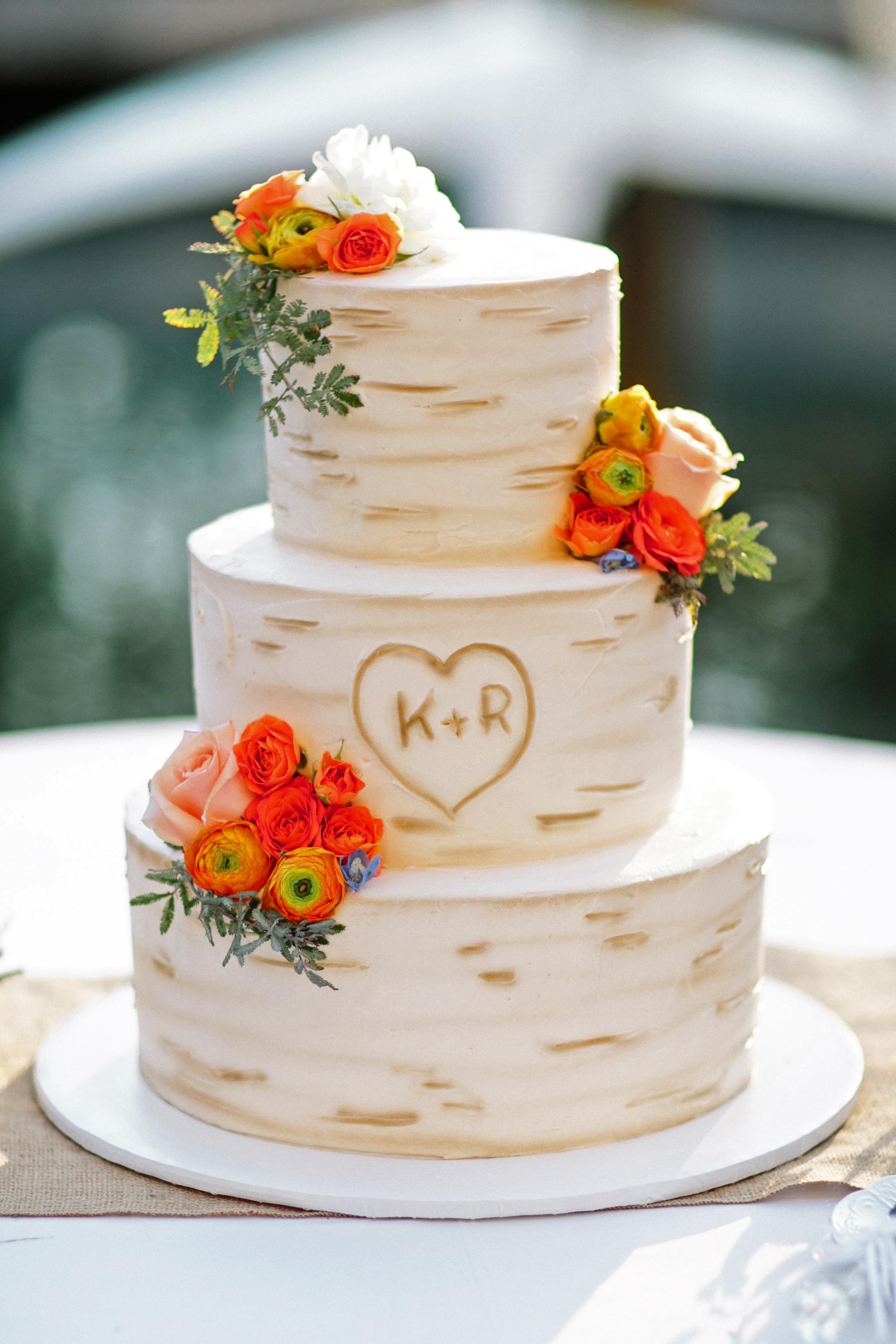 monogram wedding cake grovers cake sensations