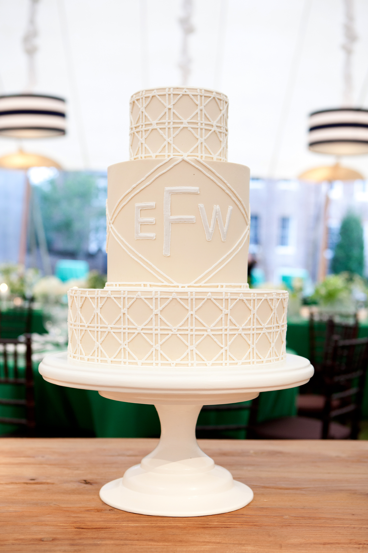 monogram wedding cake gayle brooker jim smeal