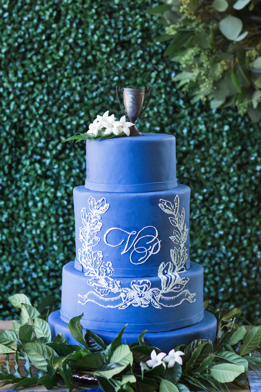 monogram wedding cake rodeo co bentleys bakery