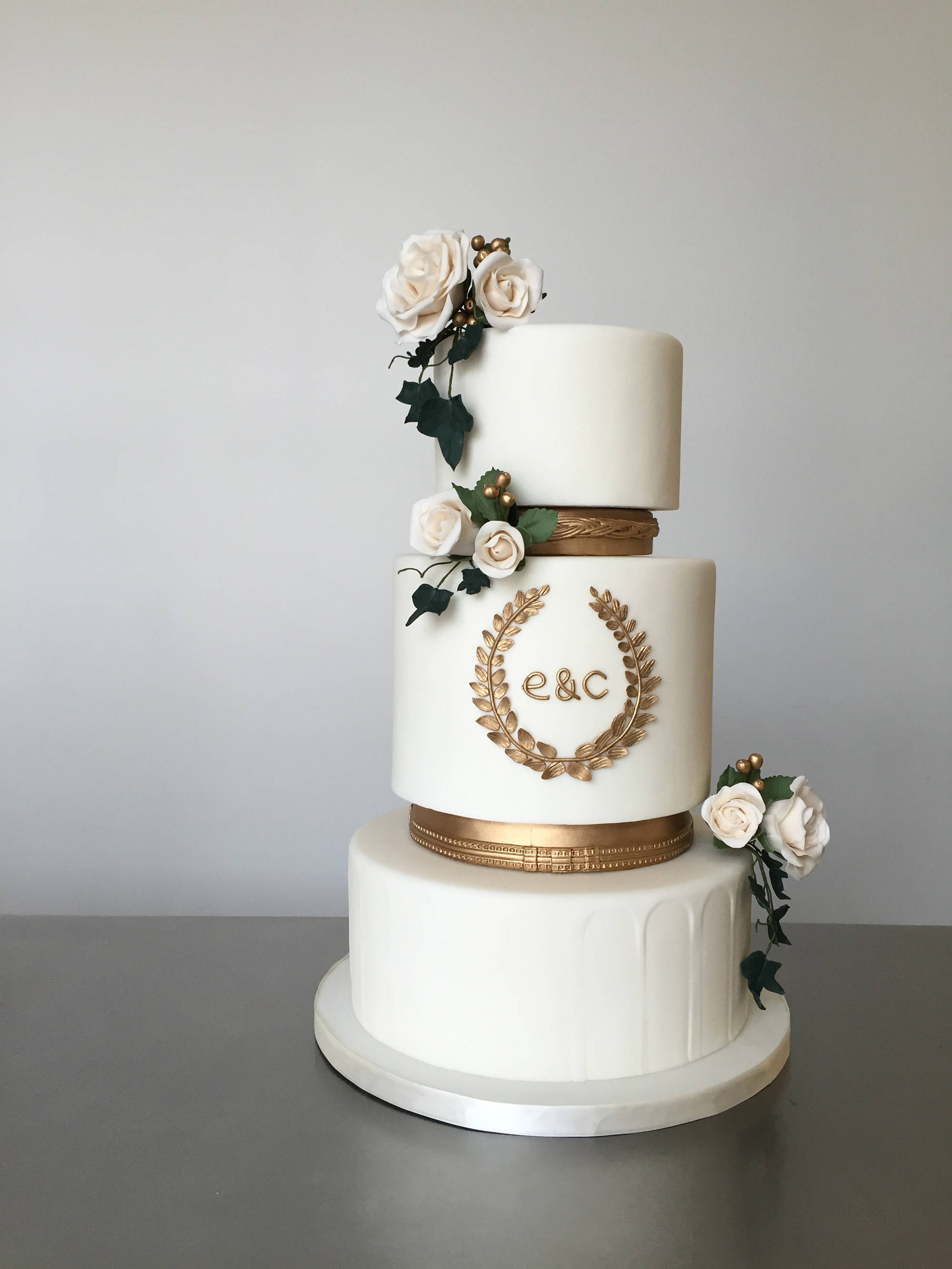 monogram wedding cake xanny bakes