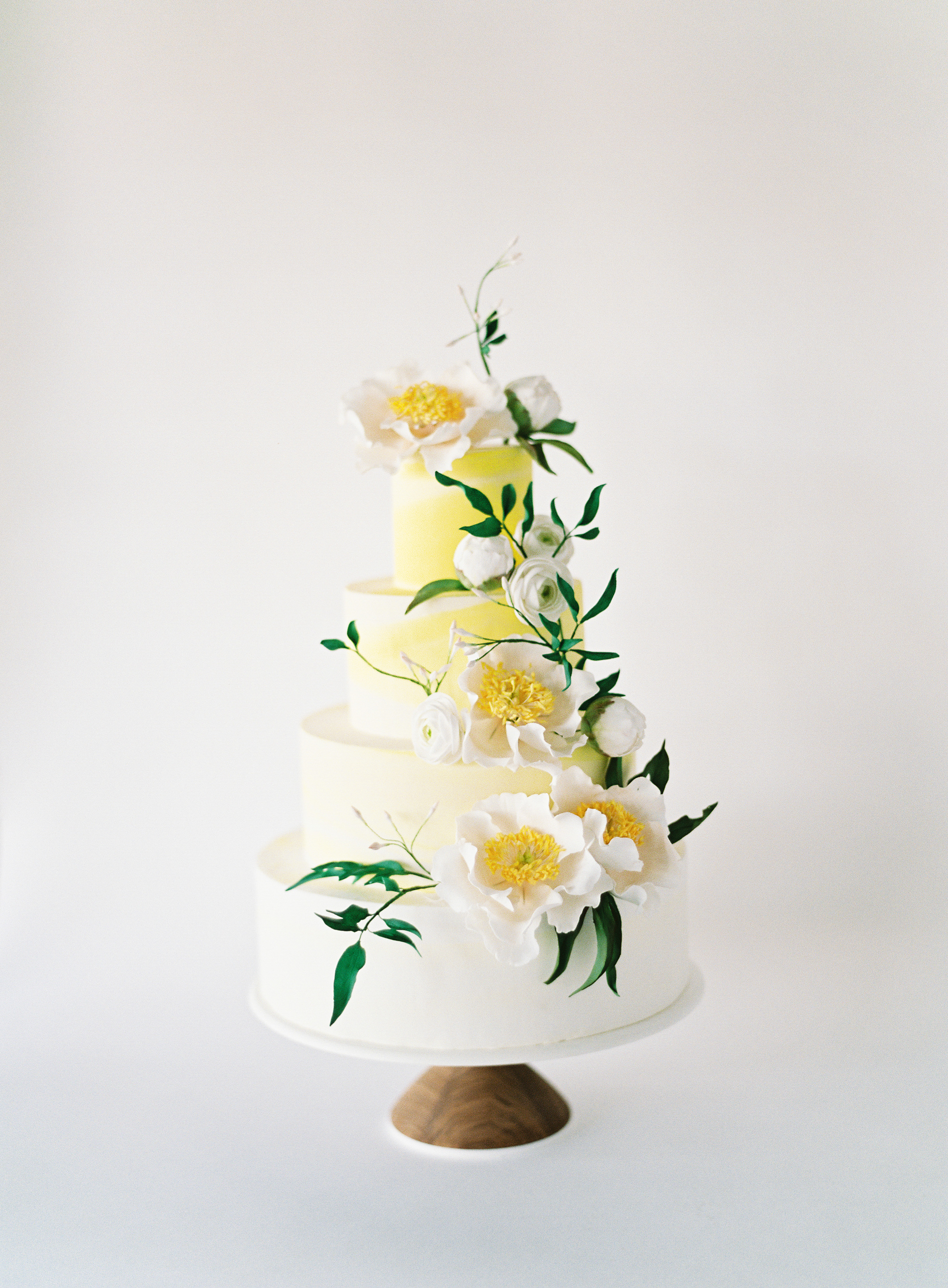 Yellow Color-Wash Wedding Cake, Fall Wedding Cake Trends