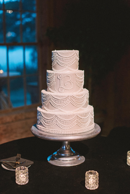 monogram wedding cake sean money elizabeth fay jim smeal