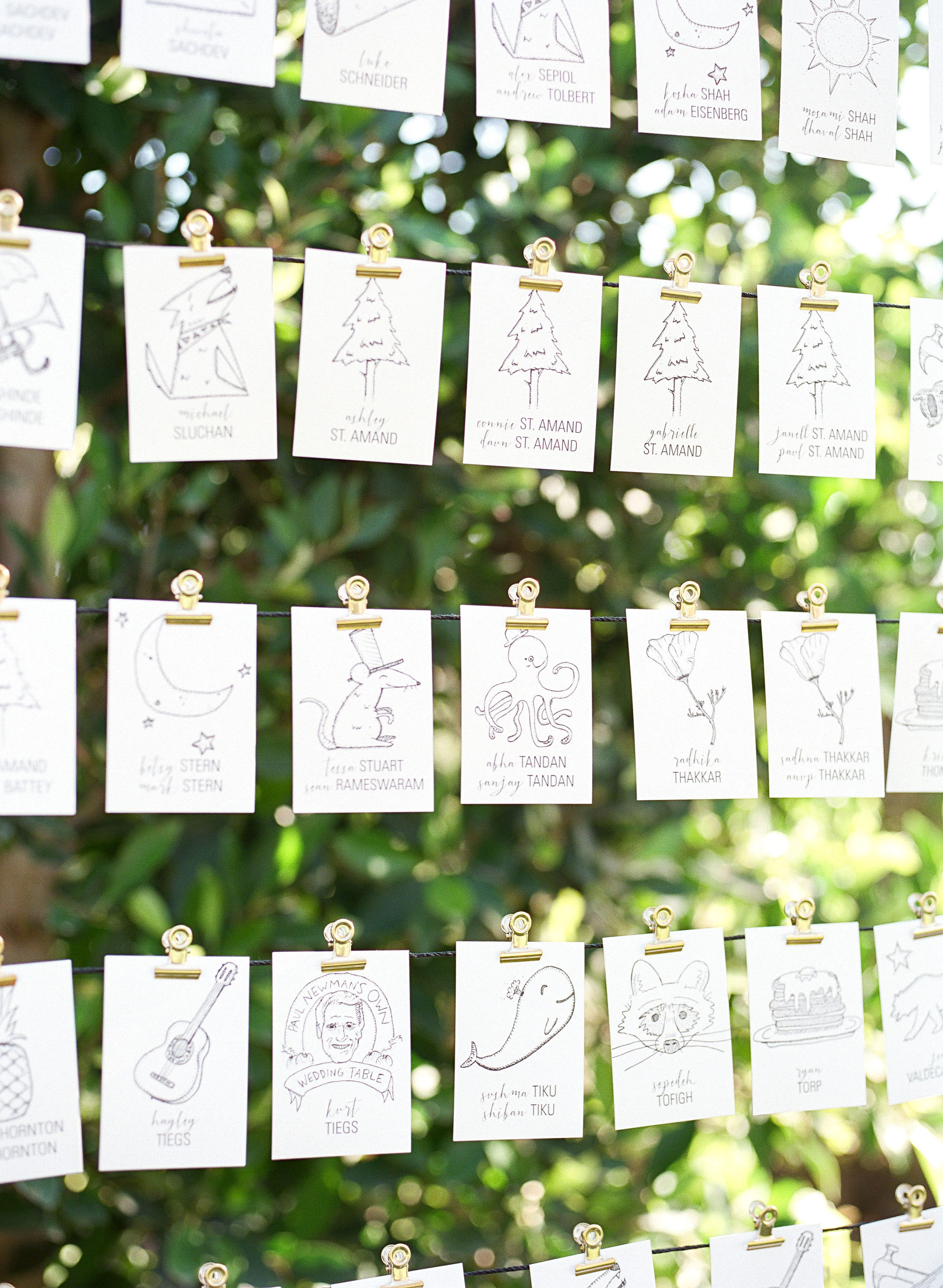 natasha nick wedding california escort cards