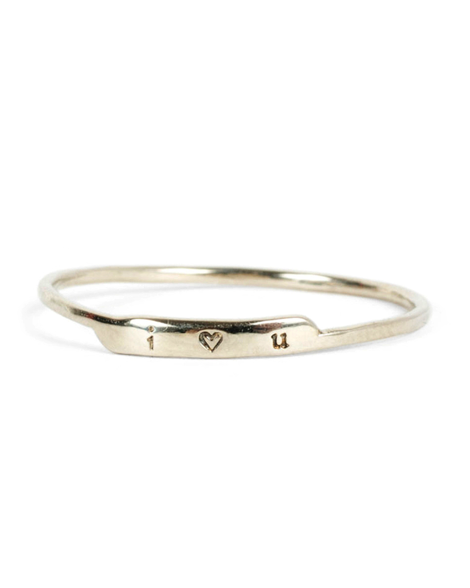 """Bittersweets NY """"Famous Letter"""" Ring"""