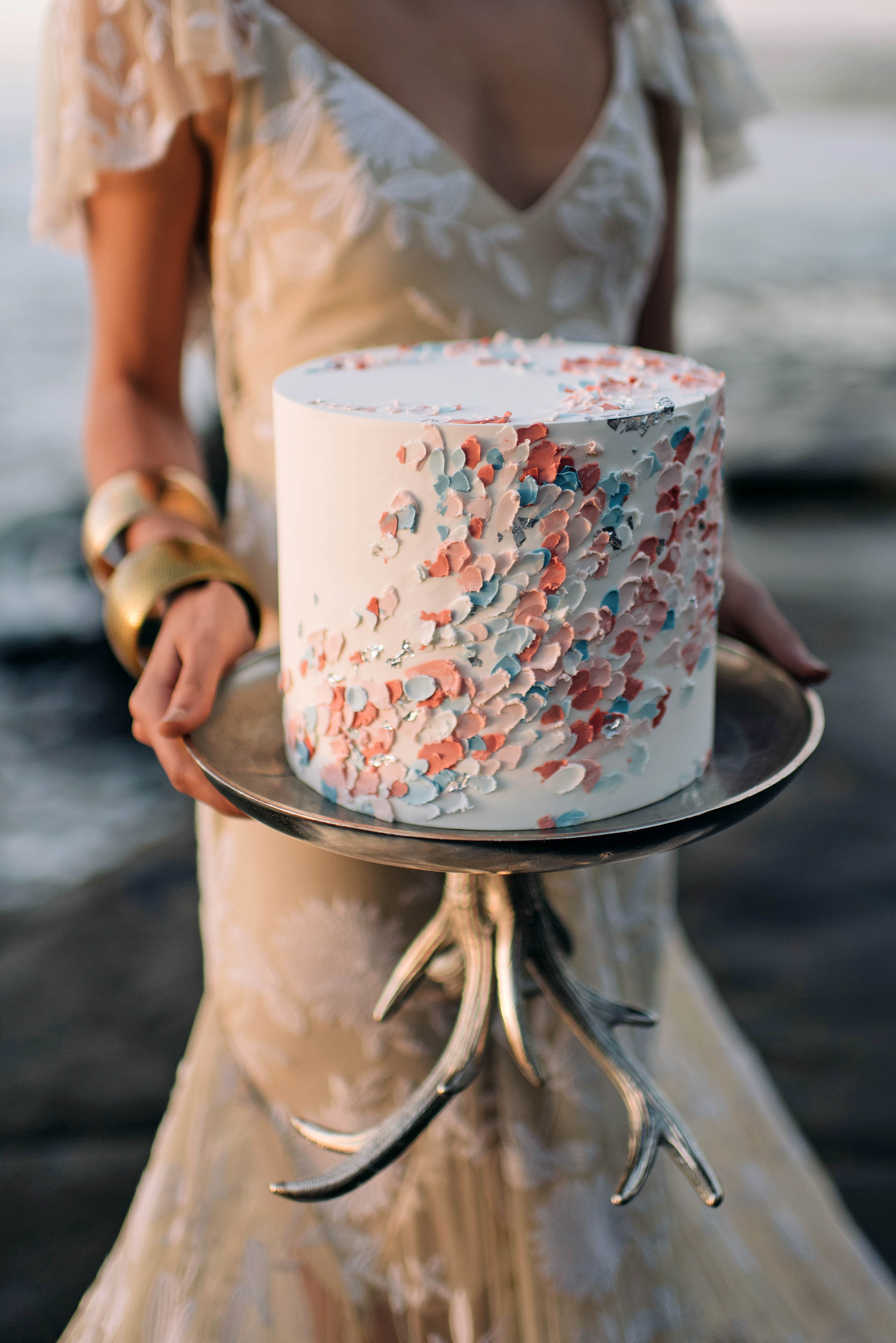 simple confetti cake nisha ravji