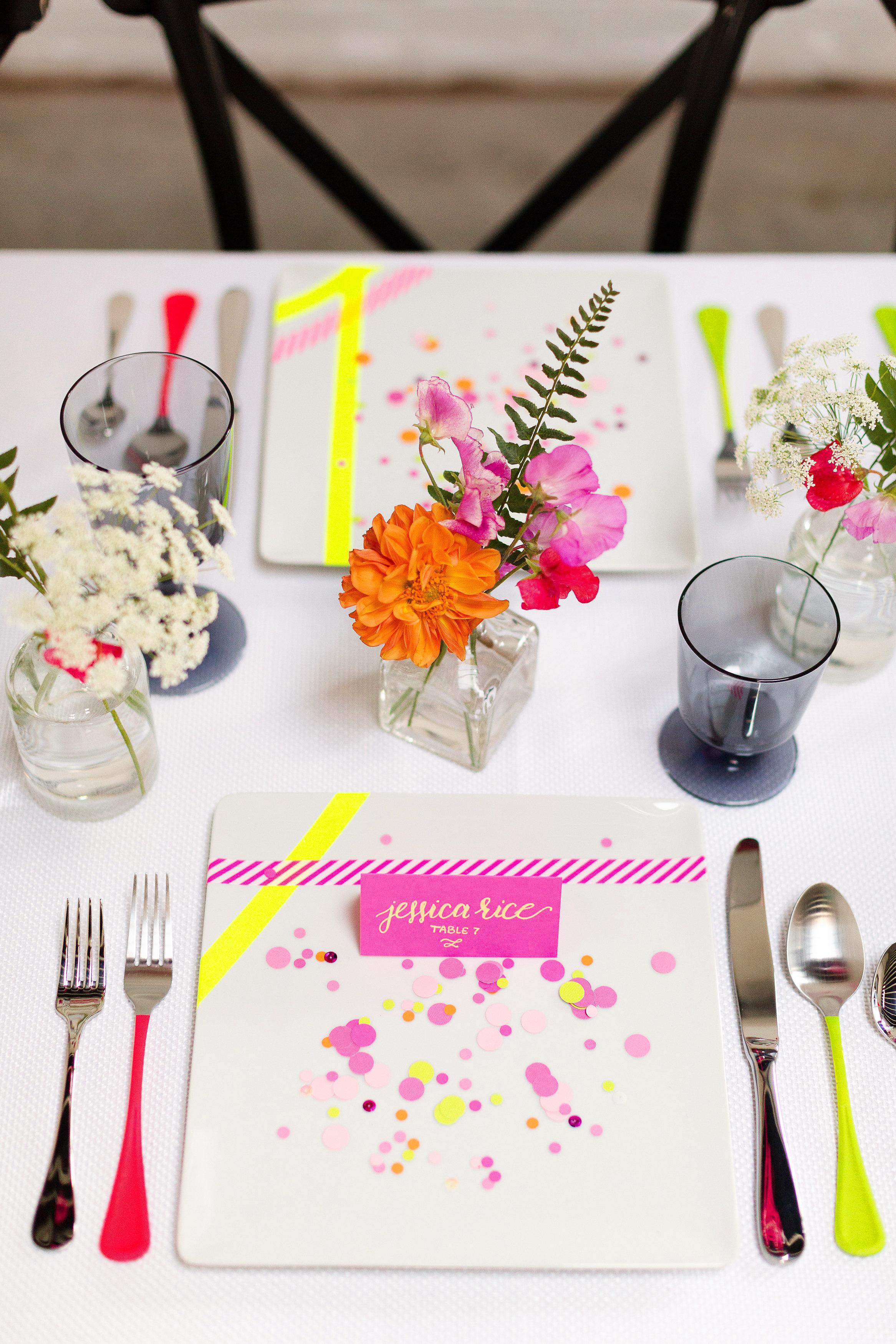 confetti on table setting jessica haley